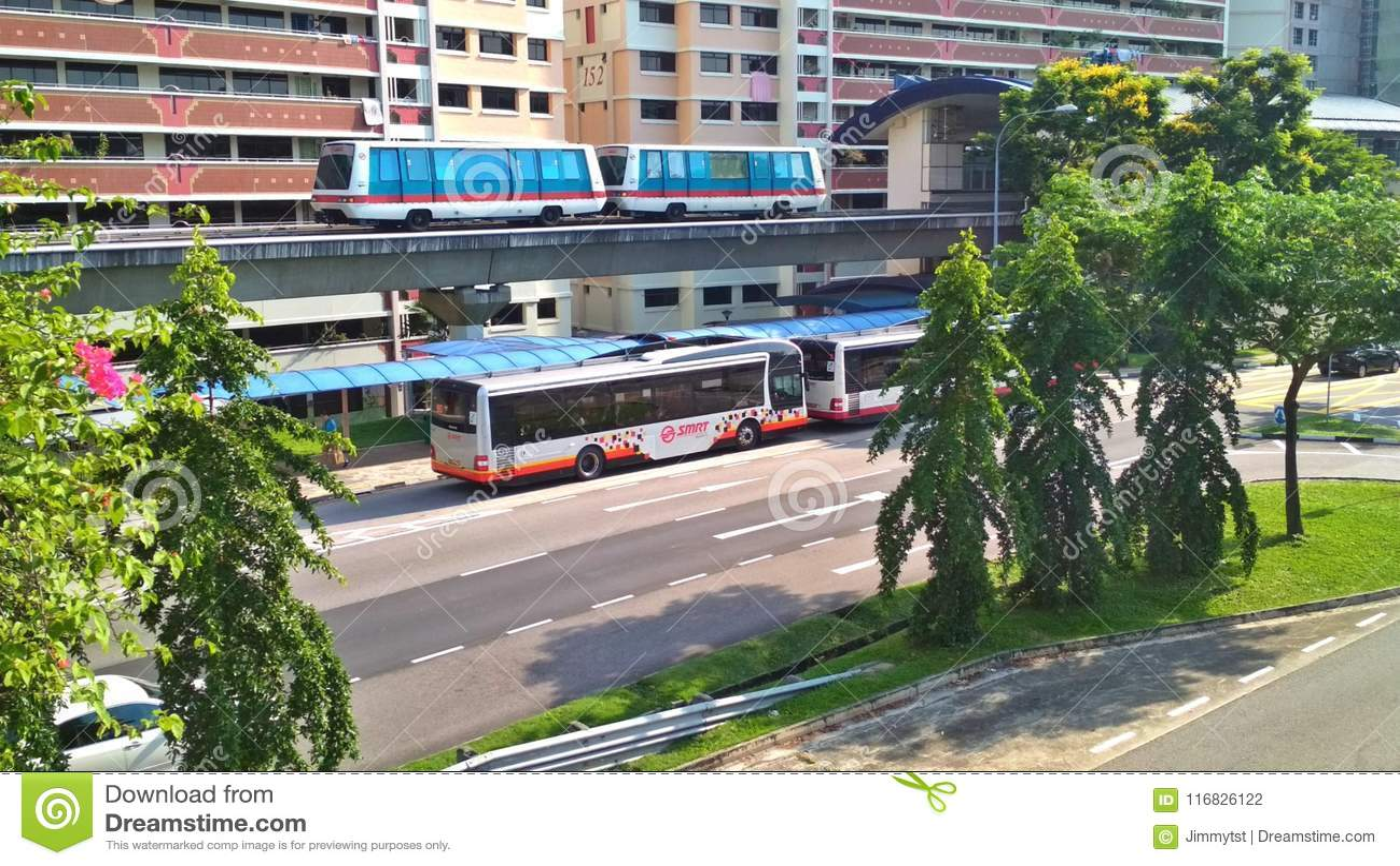 LRT en bussen