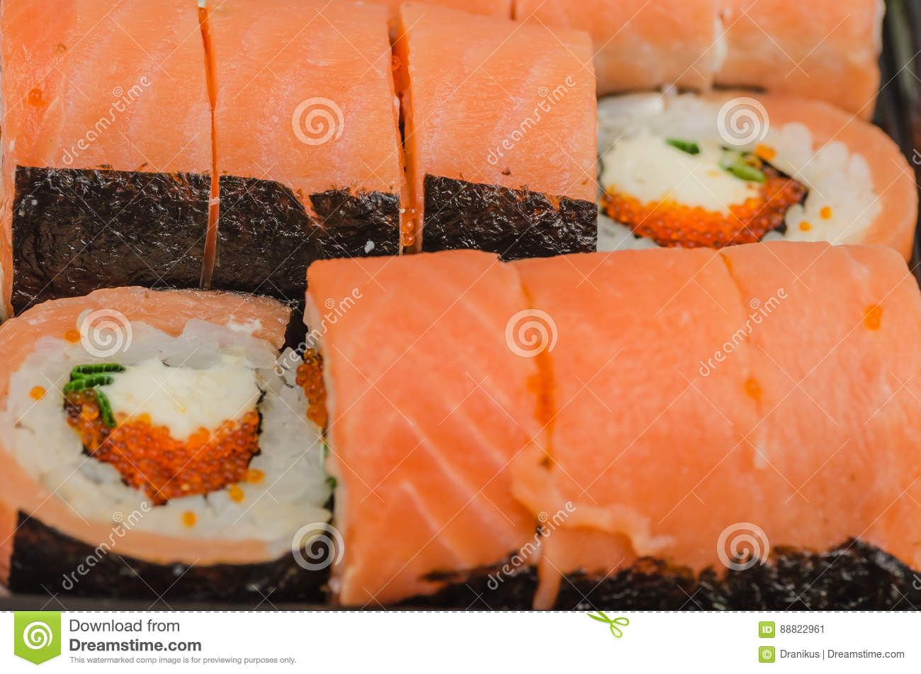 Lsushi Food Rice Product Cooked Salmon Seafood Fish Japanese