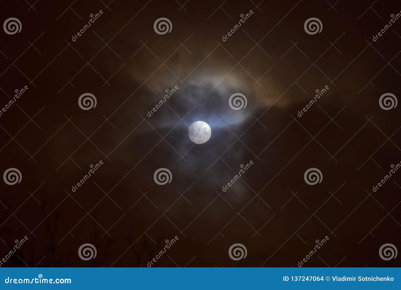 Lua cheia Fundo do céu noturno
