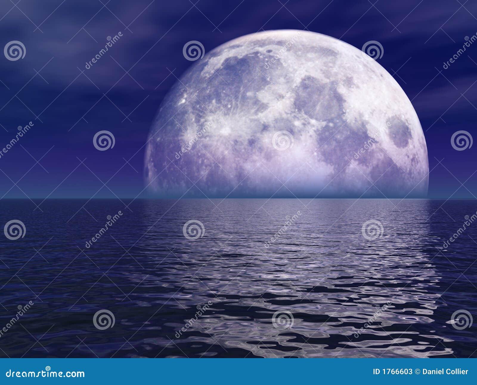 Lua cheia sobre a água