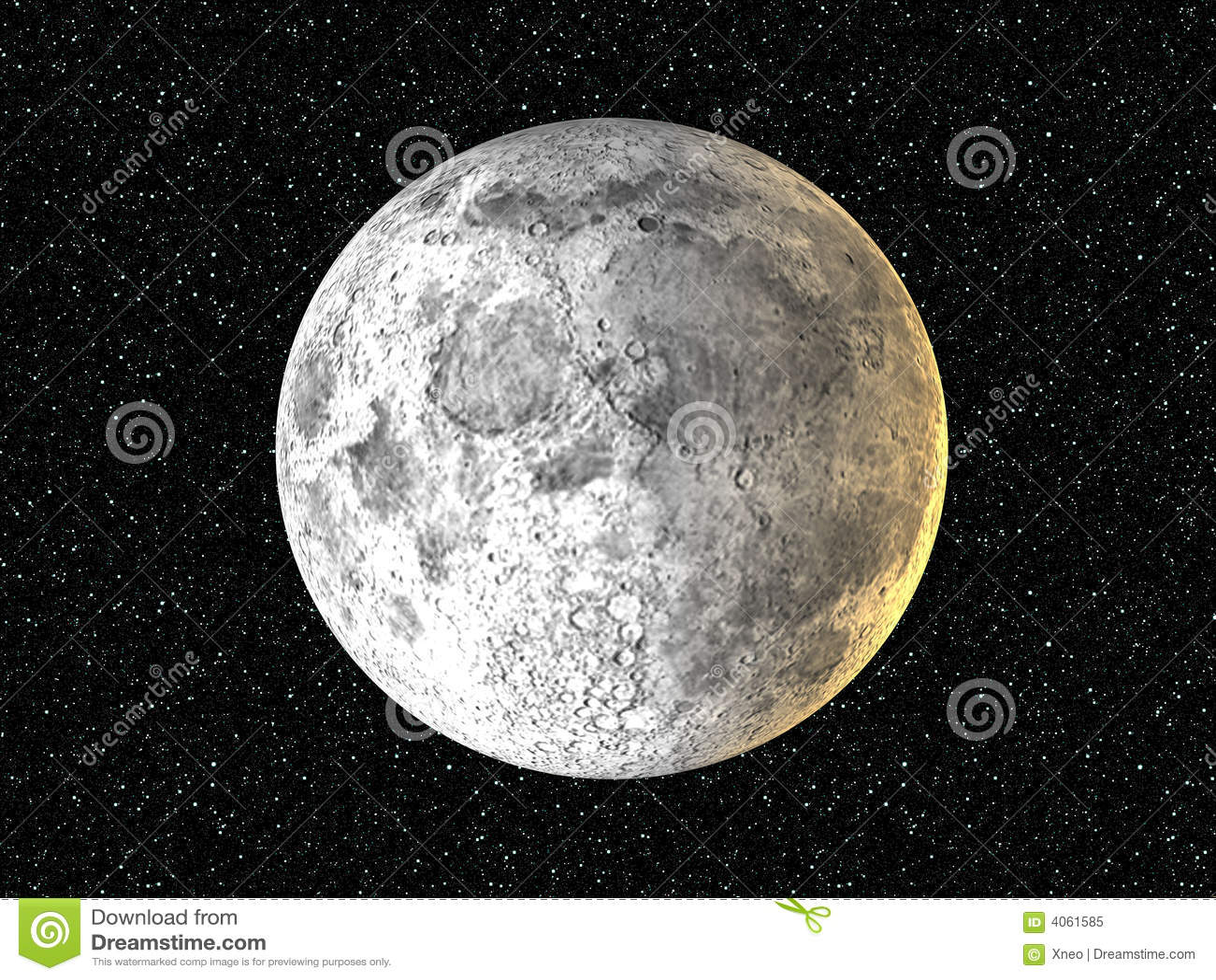 Lua no fundo da estrela