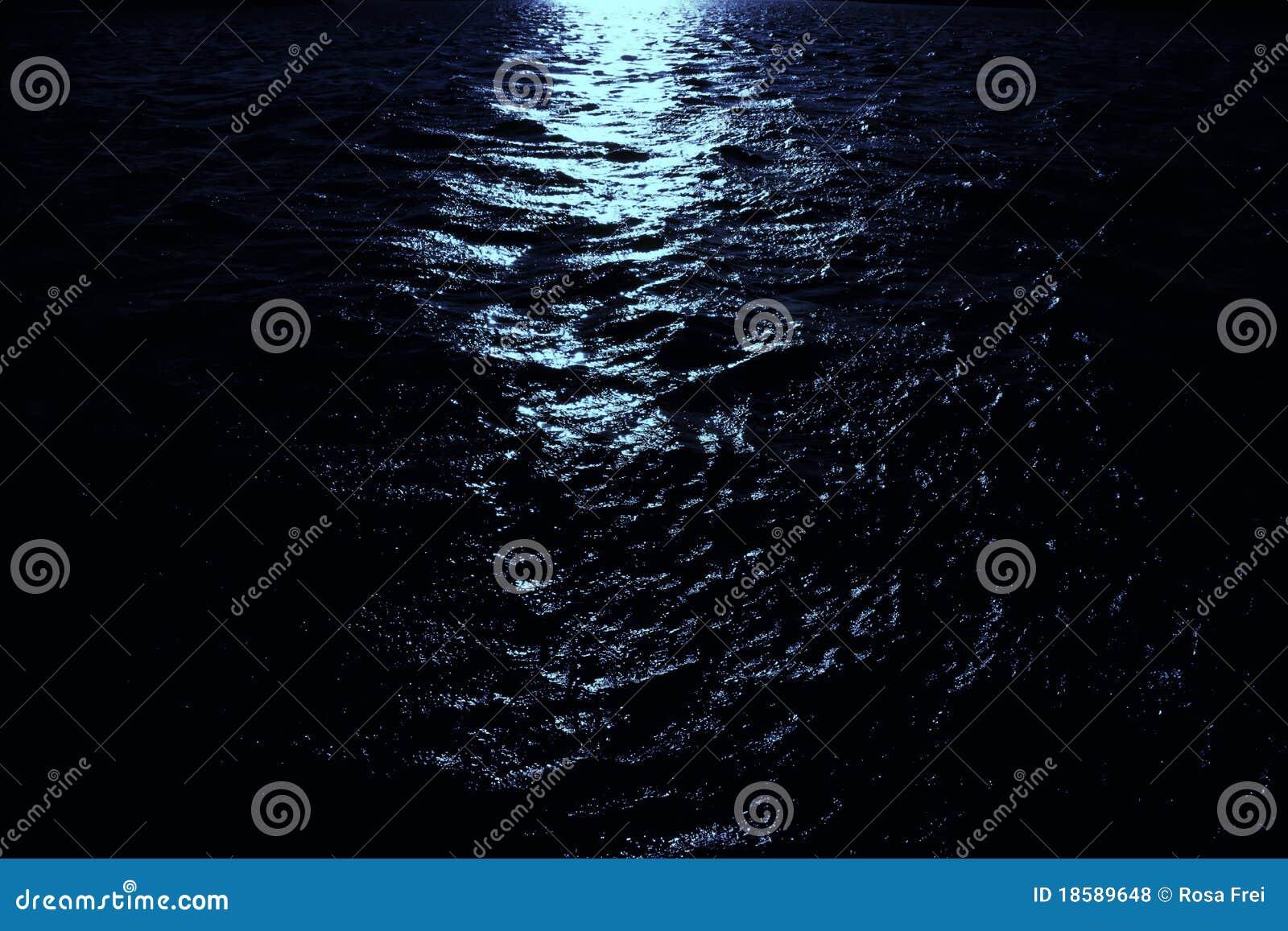 Luar No Mar Escuro Foto De Stock Imagem De Wallpaper 18589648