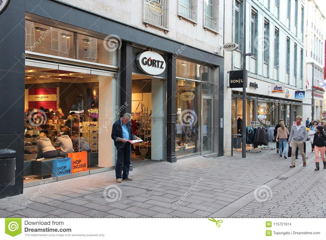 size 40 713eb c39f5 Shopping street in Germany editorial stock image. Image of ...