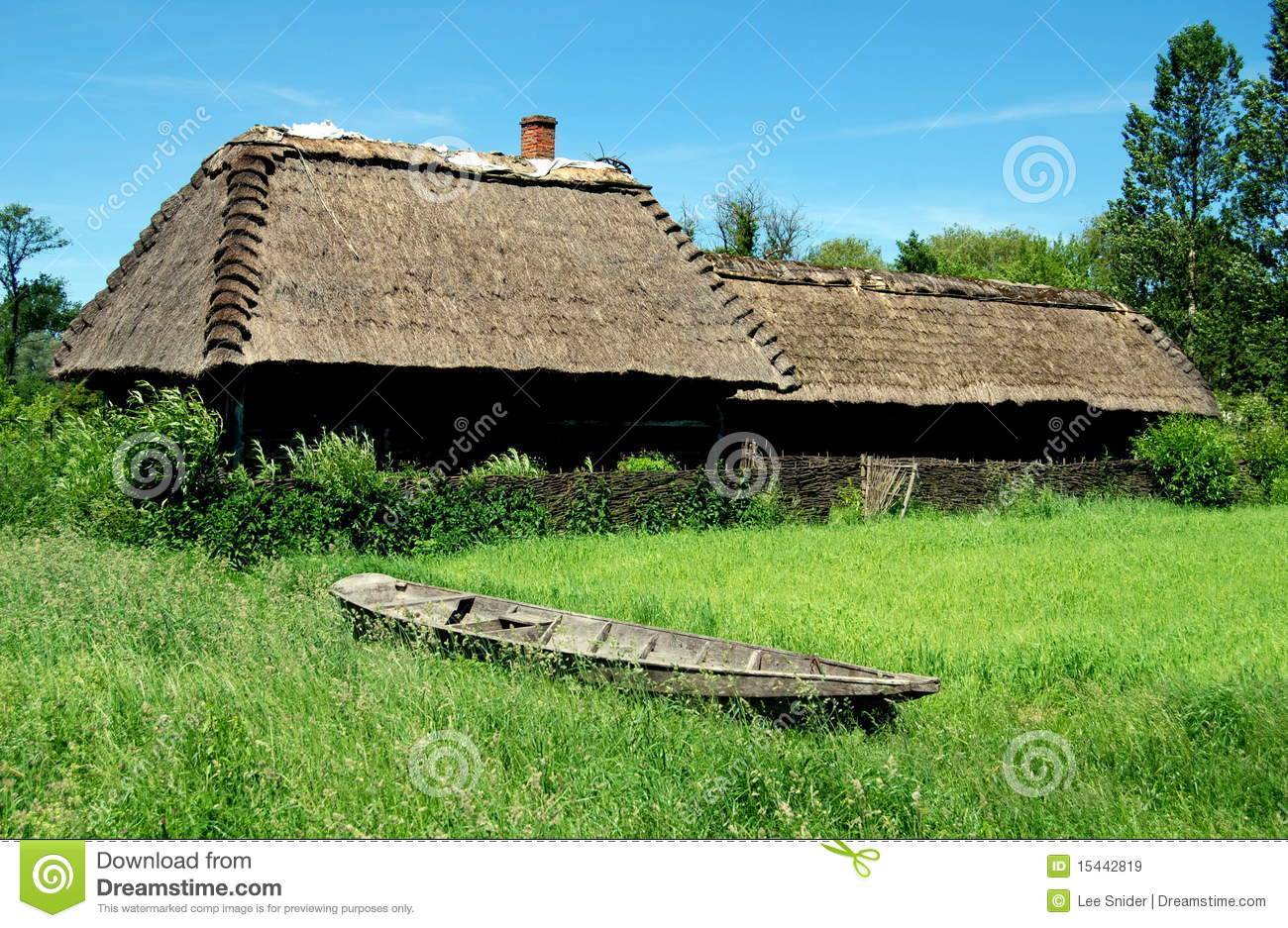 Lublin Poland Farmstead With Thatched Roof Royalty Free Stock Images Image 15442819
