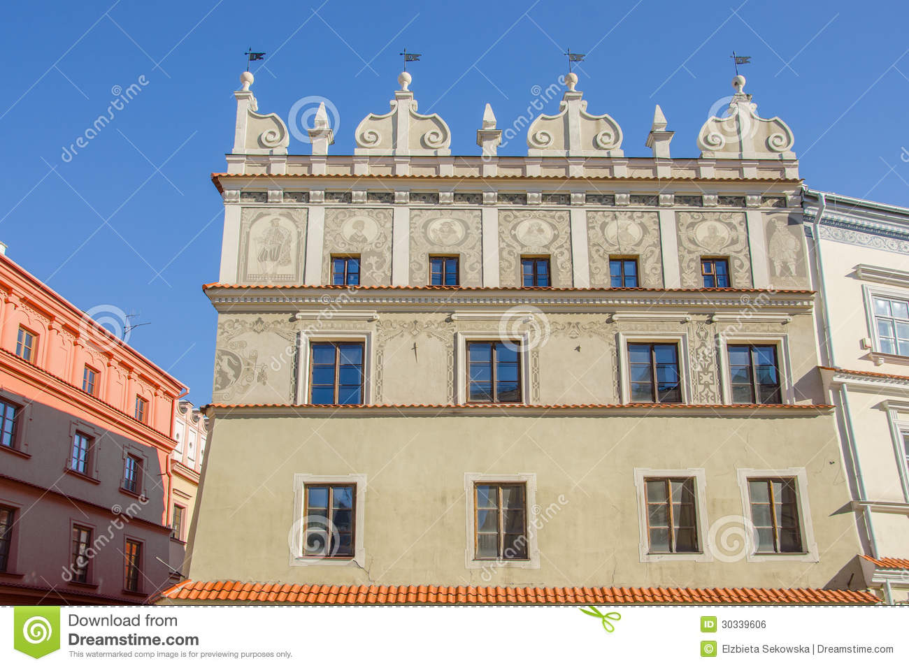 Lublin Poland Old Tenement House In Market Square Royalty Free Stock Image Image 30339606