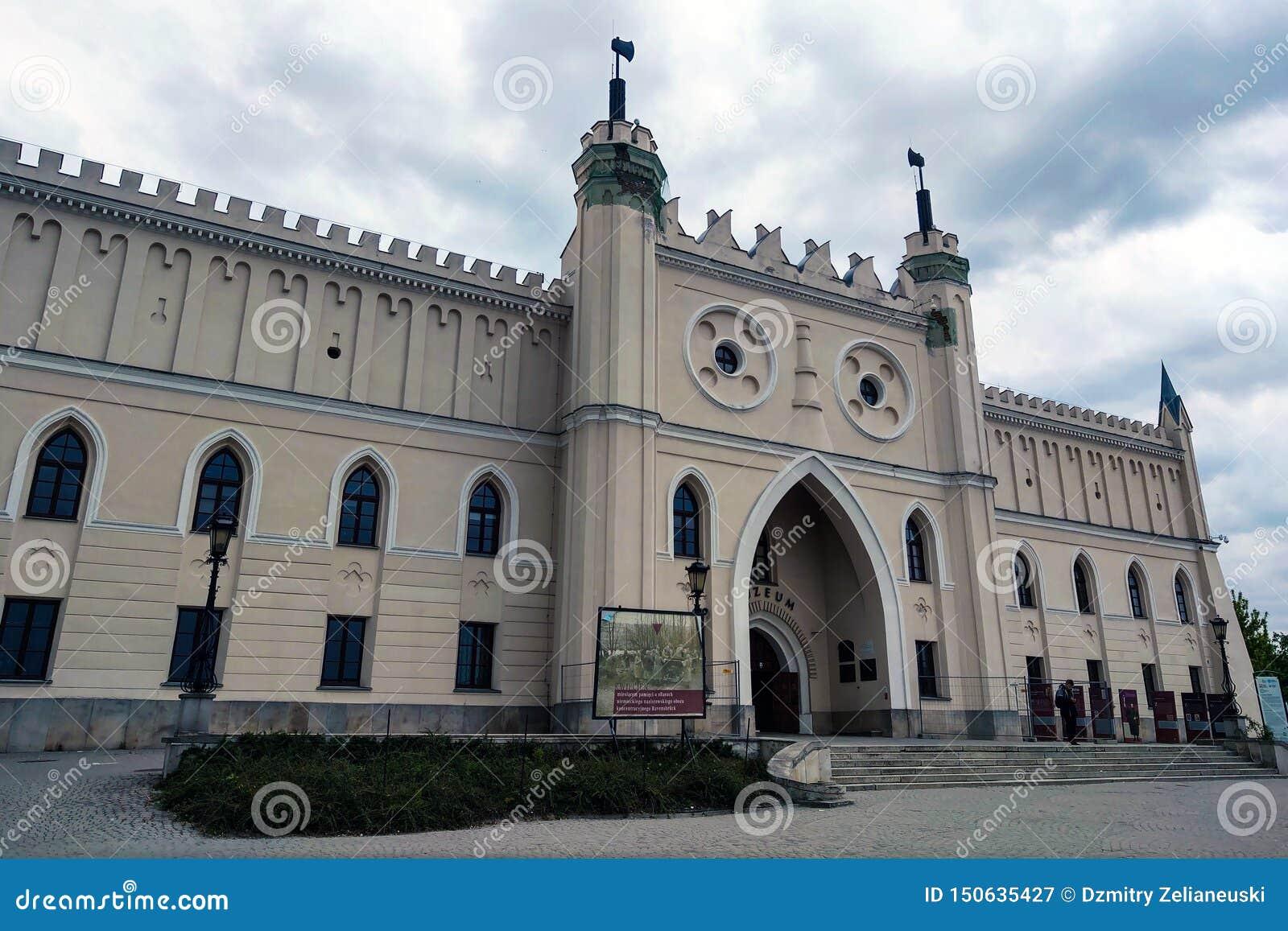 Lublin, Polonia - 14 de mayo de 2019: Castillo de Lublin - un castillo real anterior y un fortalecimiento construidos en el siglo