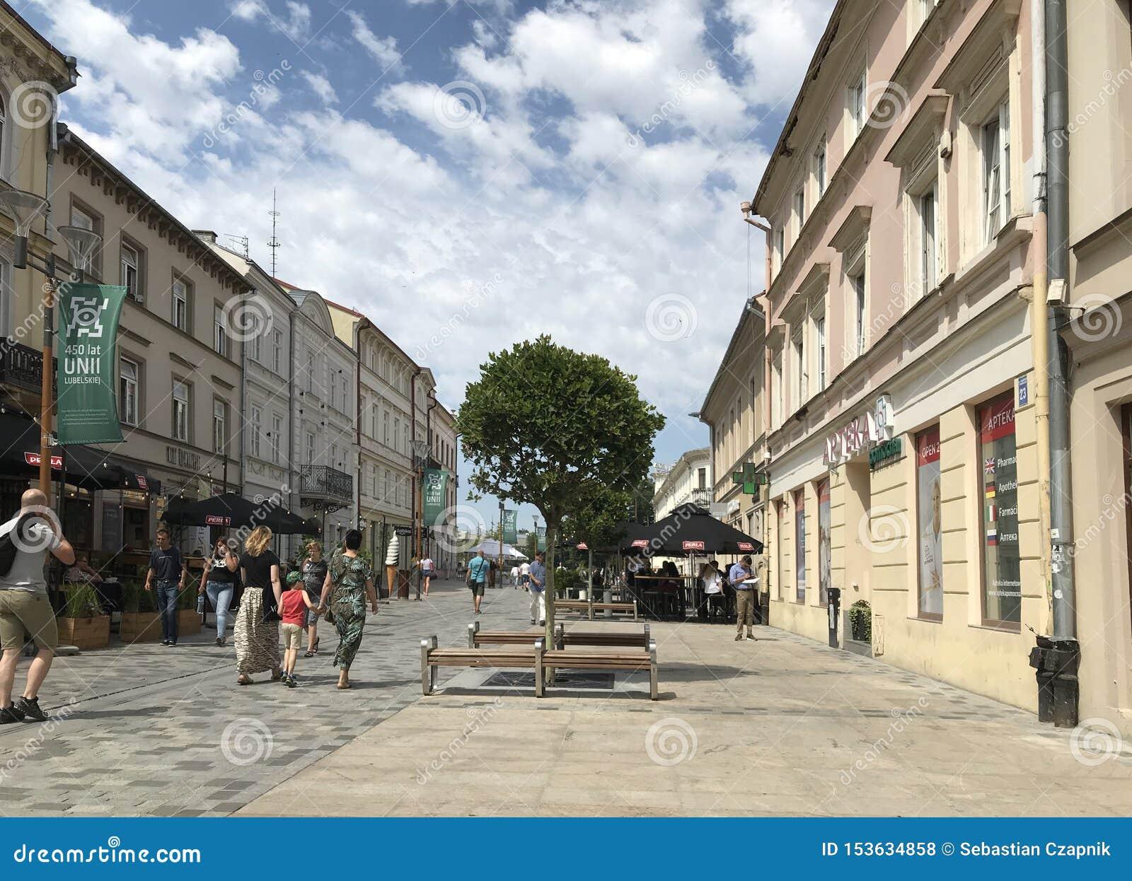 Lublin, Polska: Starzy Grodzcy historyczni budynki