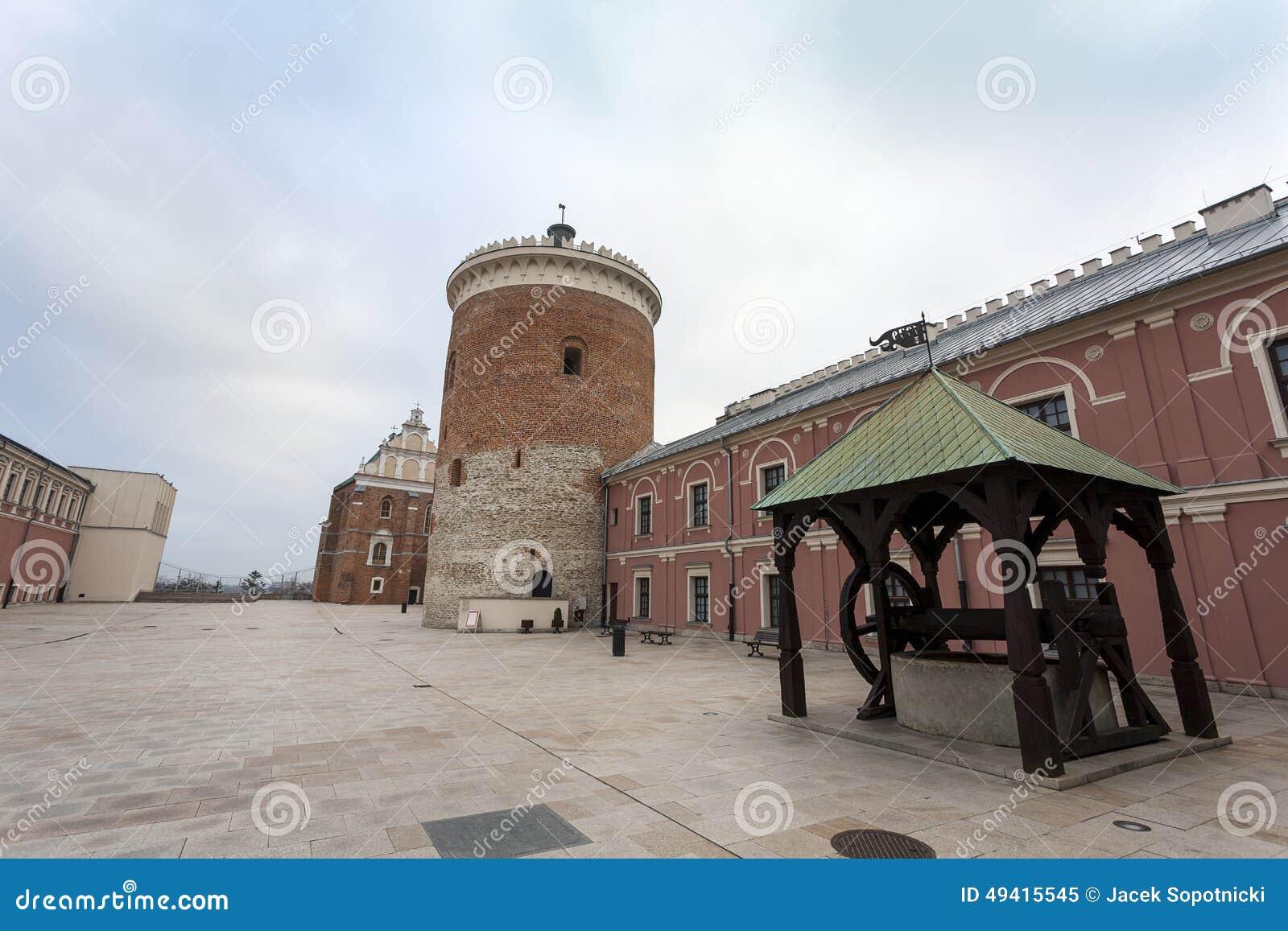 Download Lublin-Schlosshof, Polen stockbild. Bild von poliermittel - 49415545