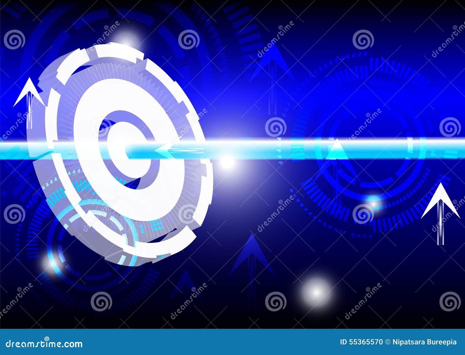 Luce del blu dell estratto e di energia