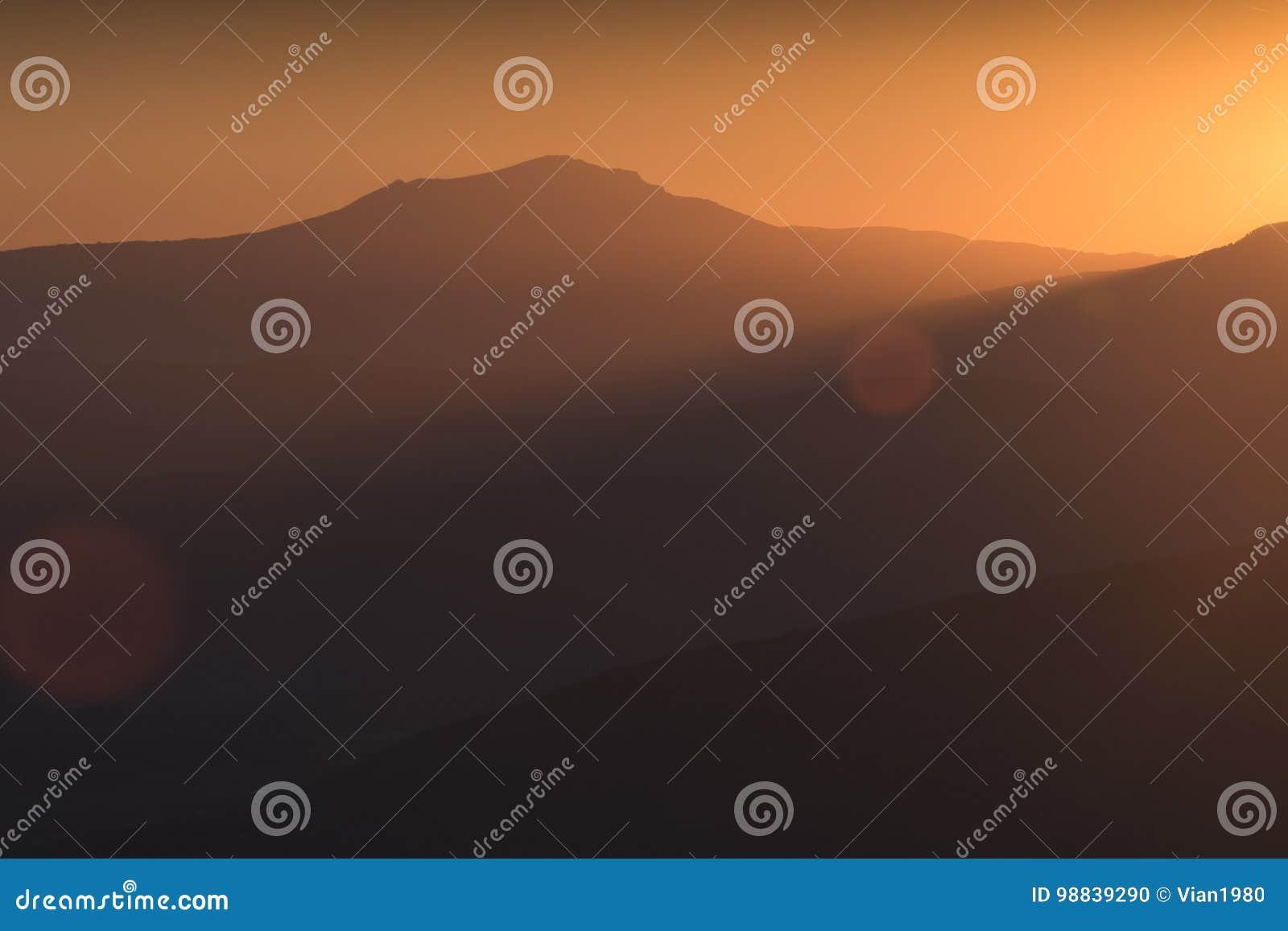 Luce dell oro del Chatir-Dag