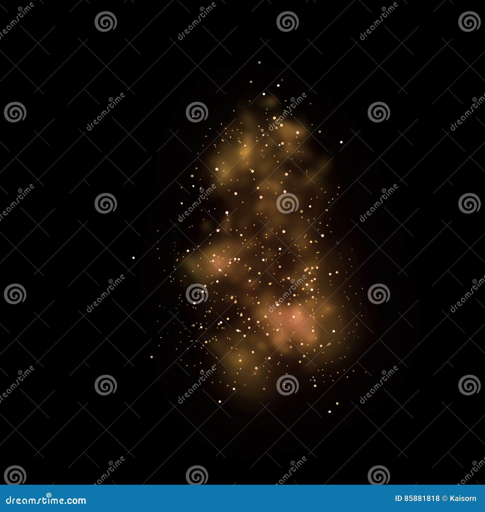 Luce e bokeh brillanti della stella dell oro Backgro magico dell estratto della polvere