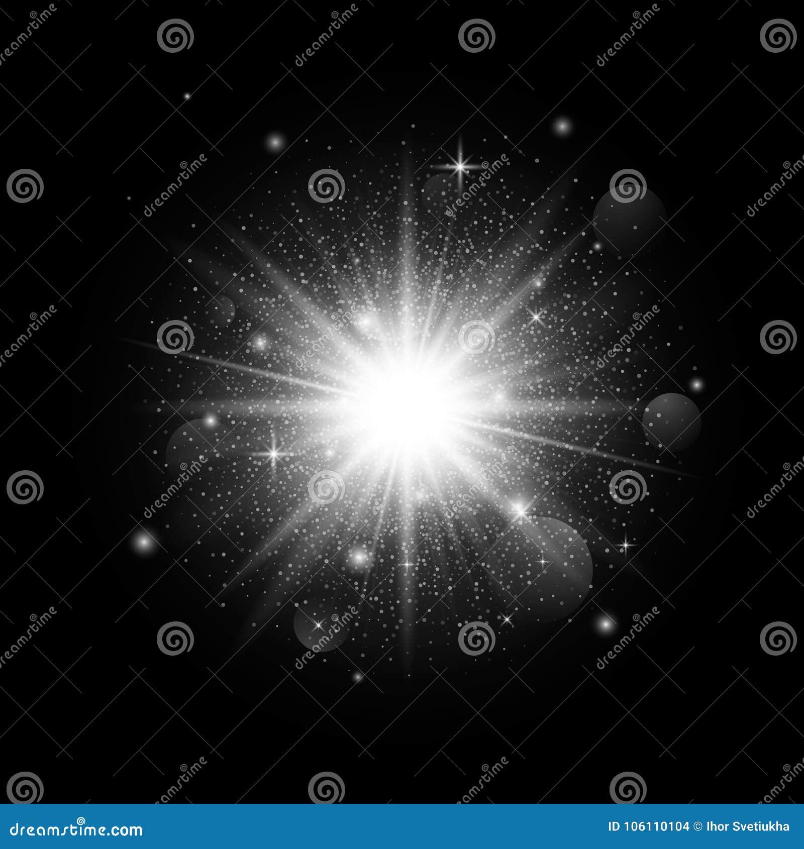 Stella Luminosa Di Natale.Luce Luminosa Della Stella Della Scintilla Su Fondo Scuro