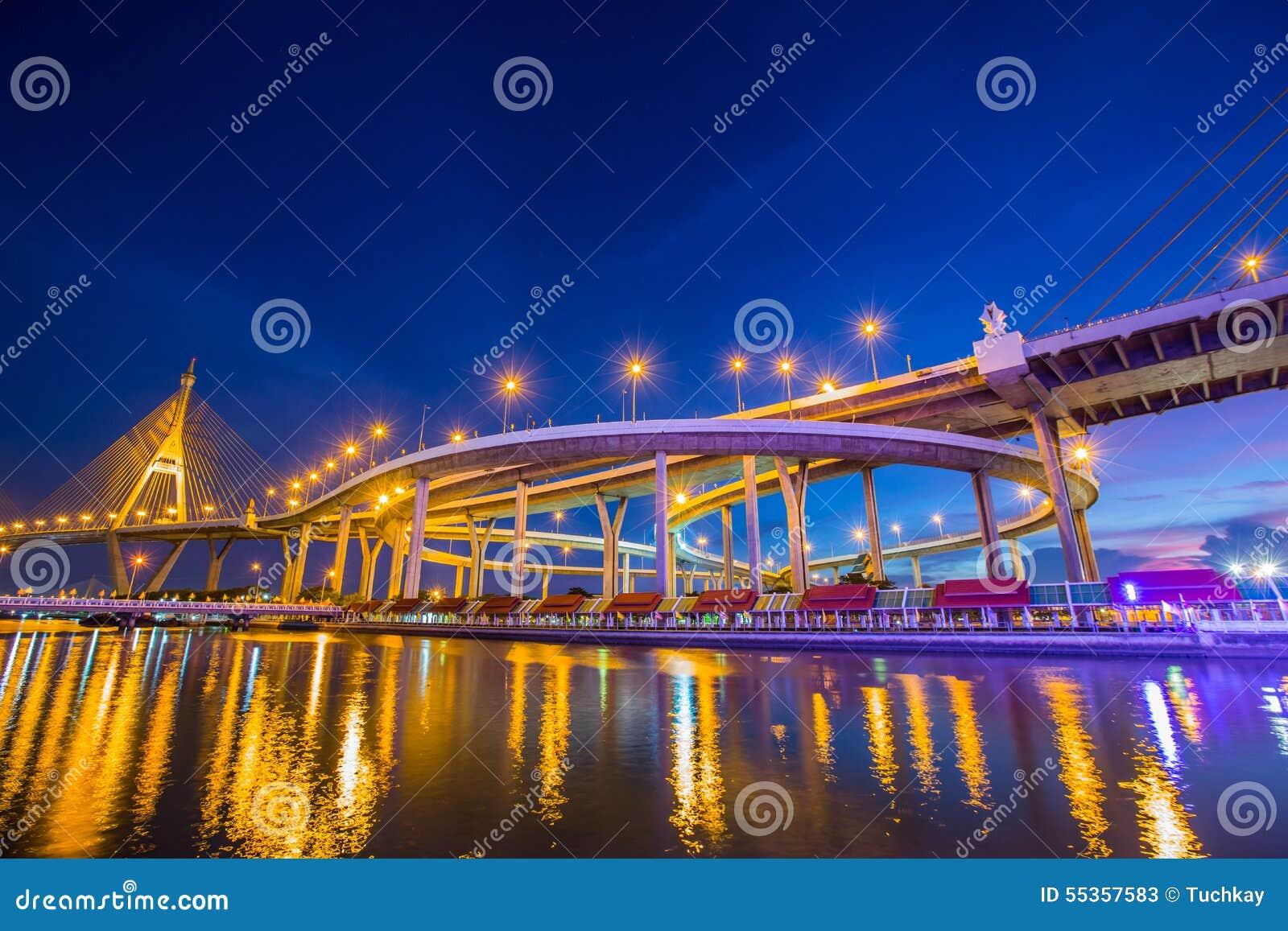 Luce notturna Bhumibol 1 ponte