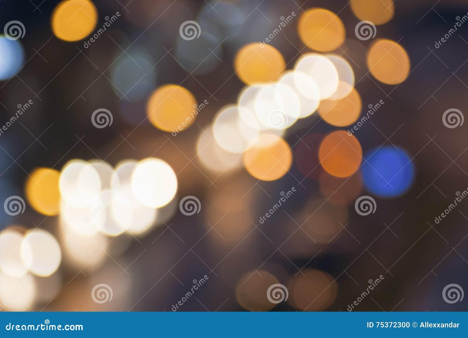 Luces borrosas extracto de la ciudad de la noche concepto de los fondos de la falta de definición Falta de definición del paisaje