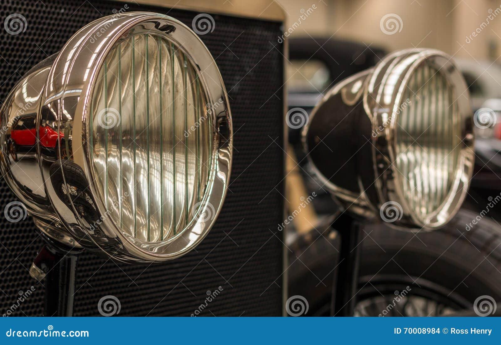 Luces de la cabeza de Chrome