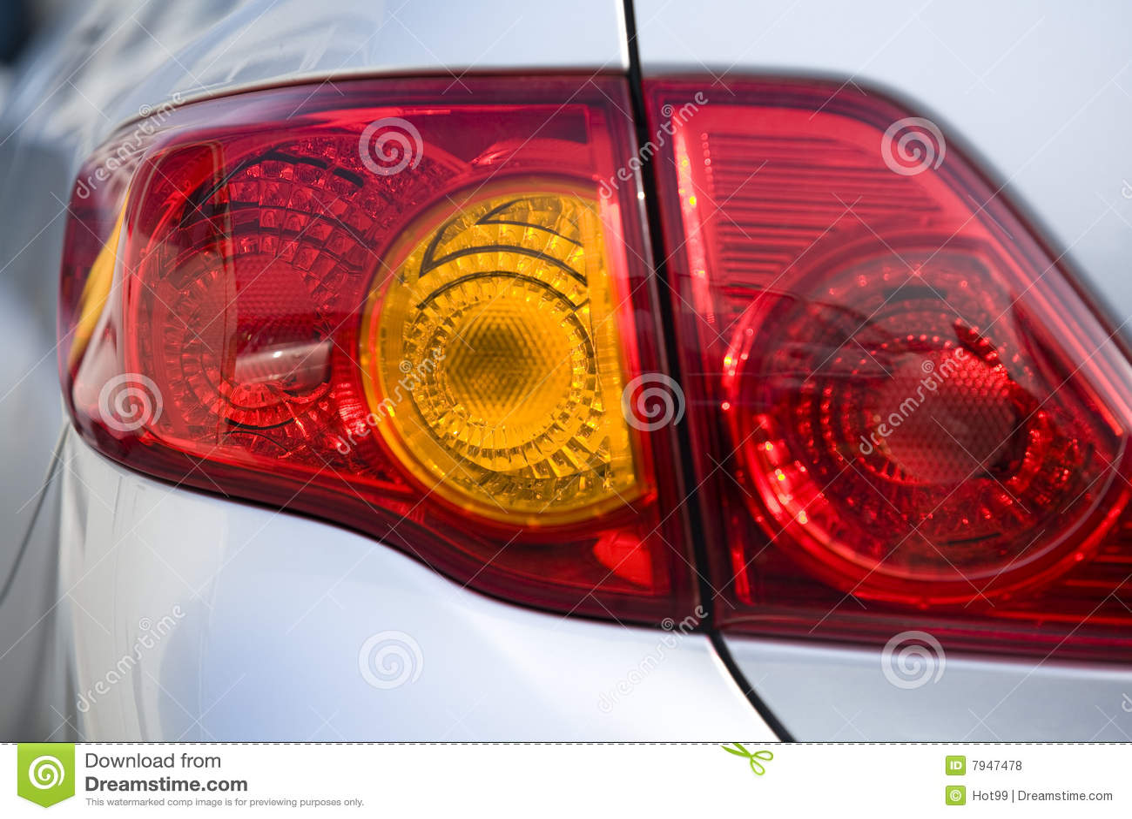 Luces de la cola del coche