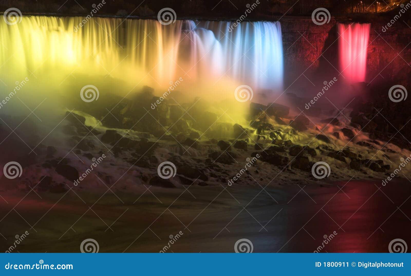 Luces de la noche de Niagara Falls