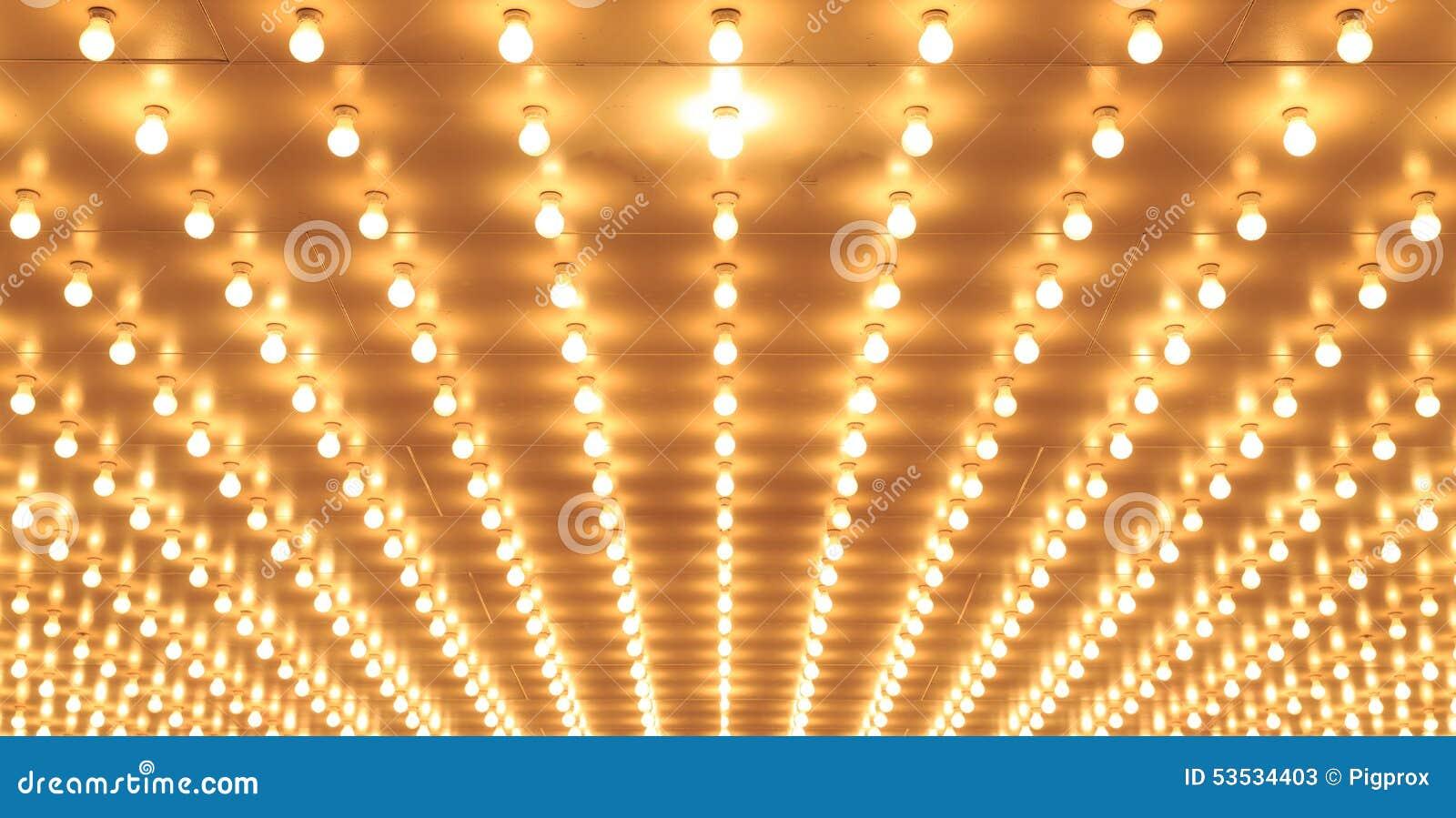 Luces de teatro alineadas del teatro de Chicago Luces del casino