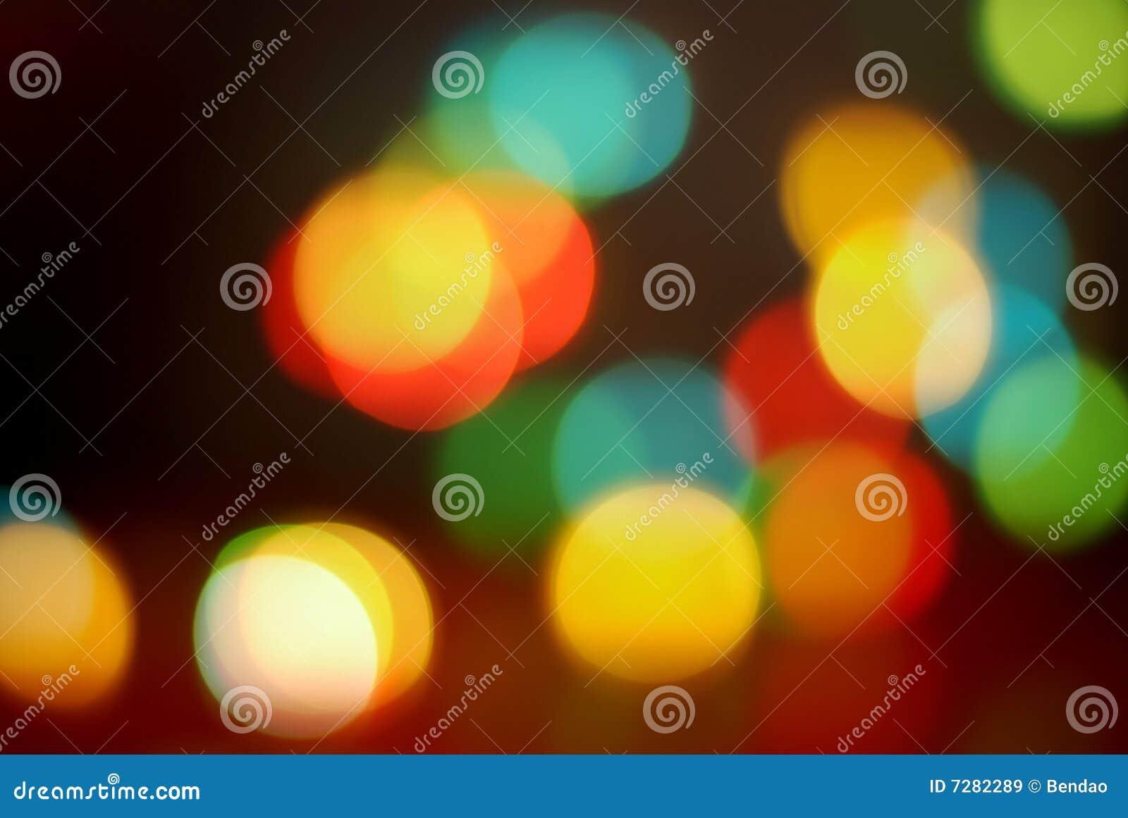 Luces que brillan coloridas