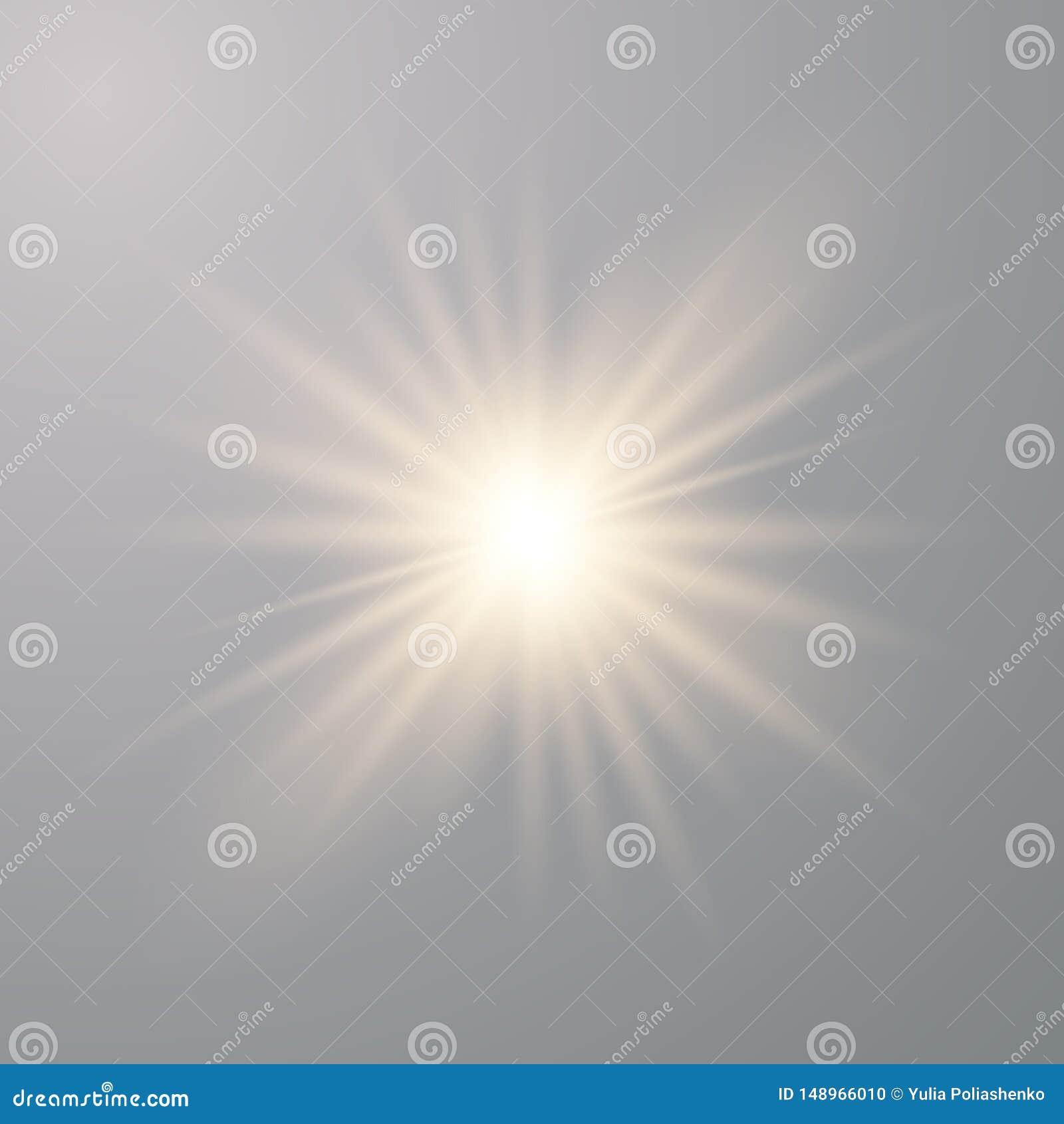 Luces que brillan intensamente de oro