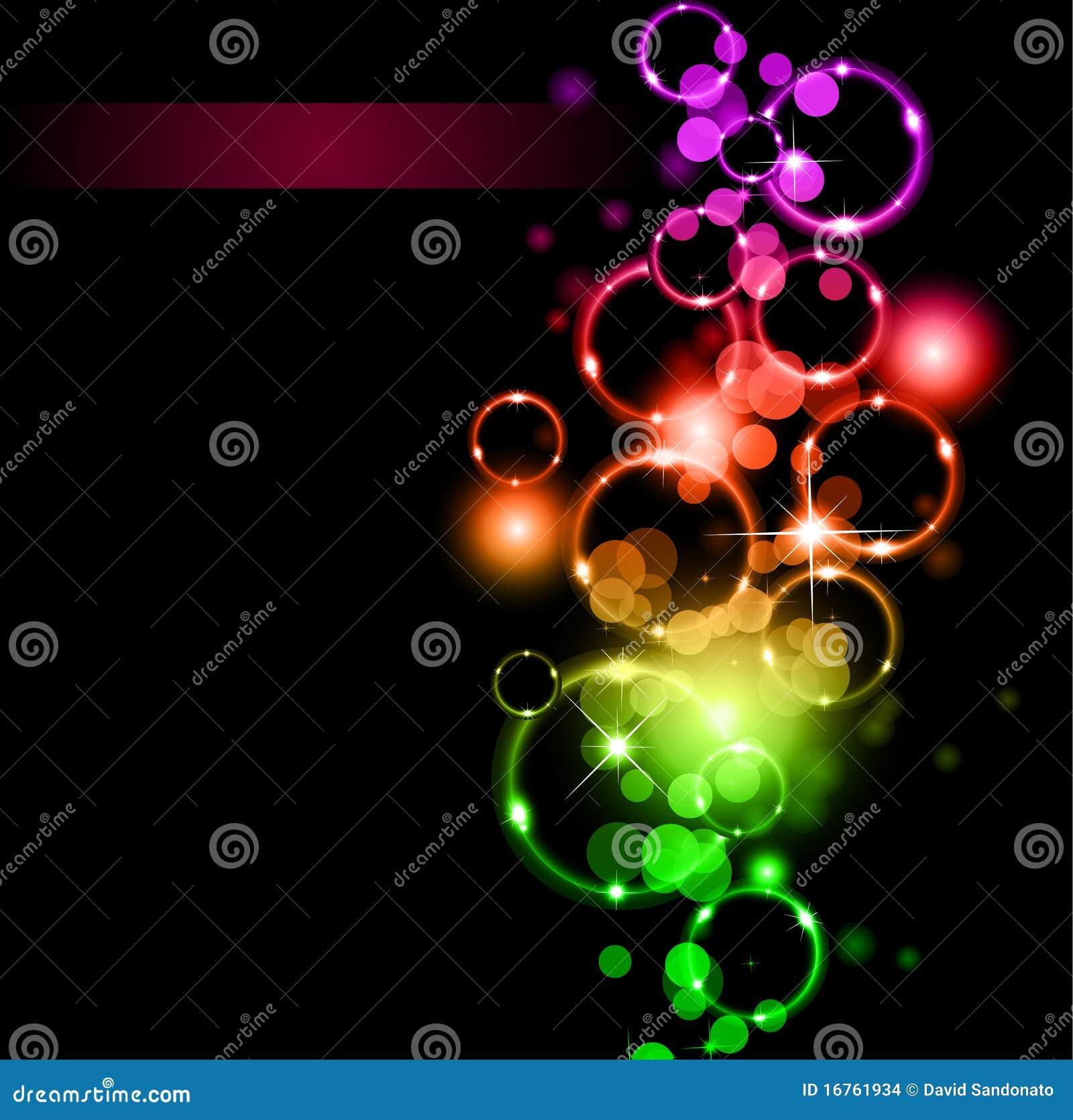 Luces y chispas abstractas con colores del arco iris for Luces de colores