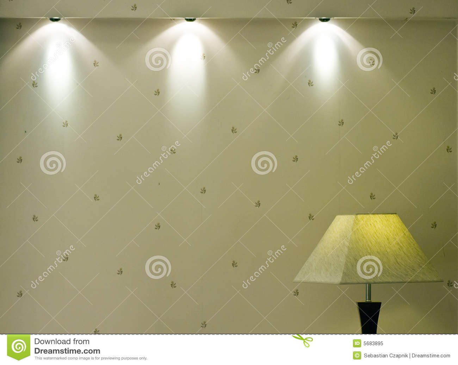 Luces y pared imagen de archivo Imagen de lmpara casa 5683895