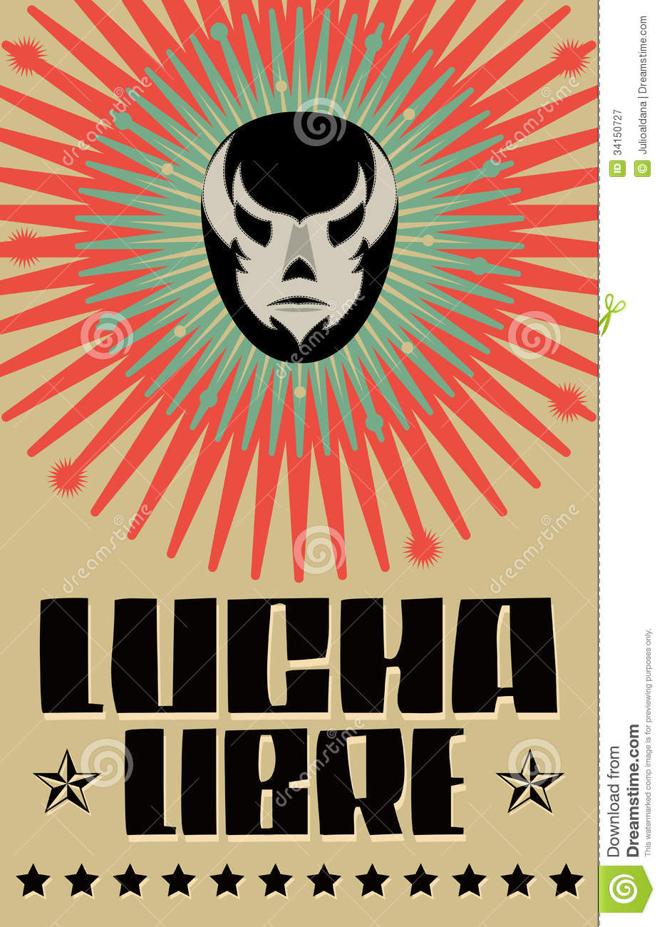 Lucha Libre Wrestling Spanish Text Royalty Free Stock