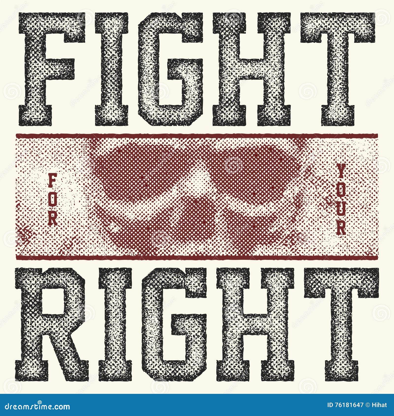 Lucha para su lema correcto