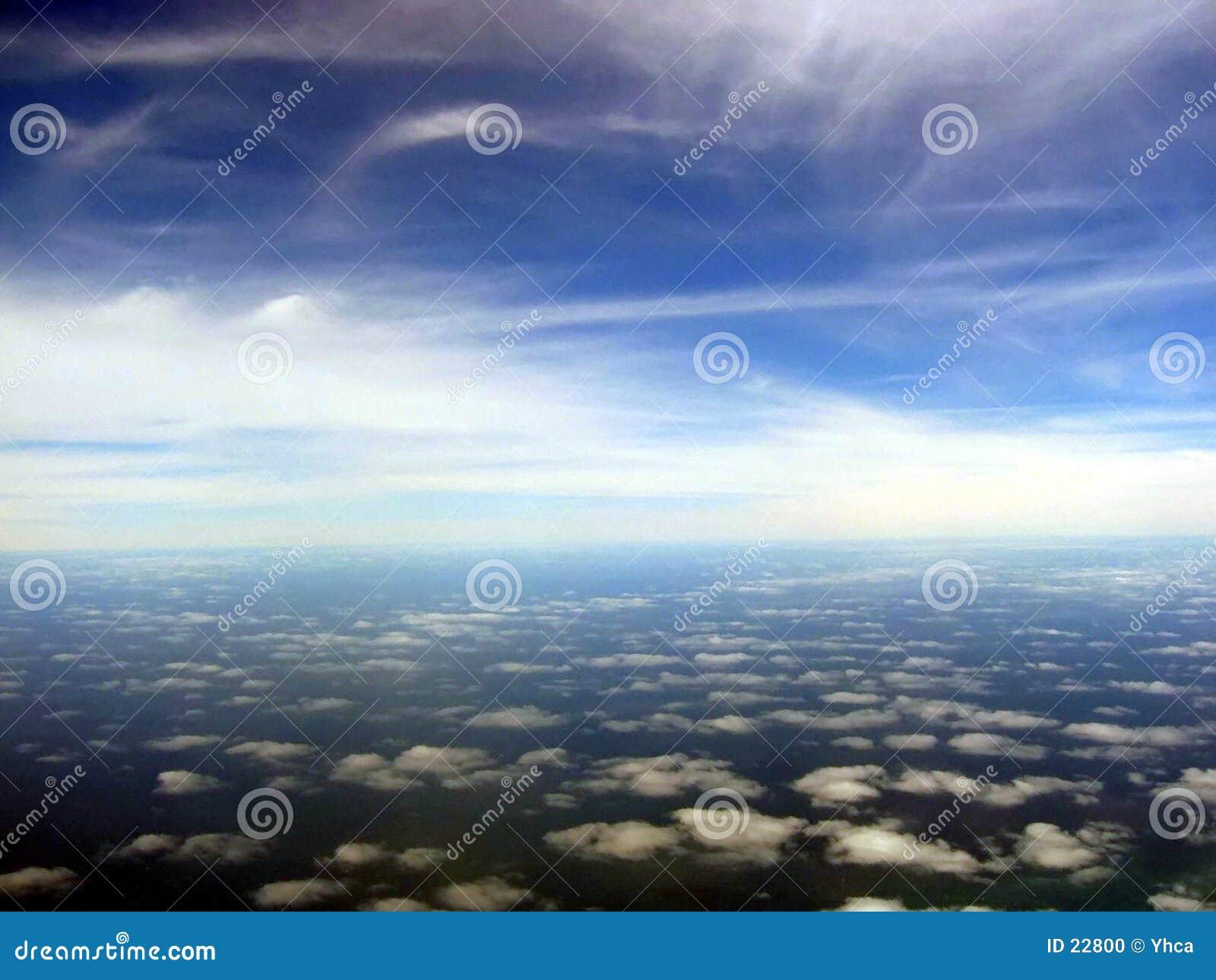 Lucht cloudscape toneel