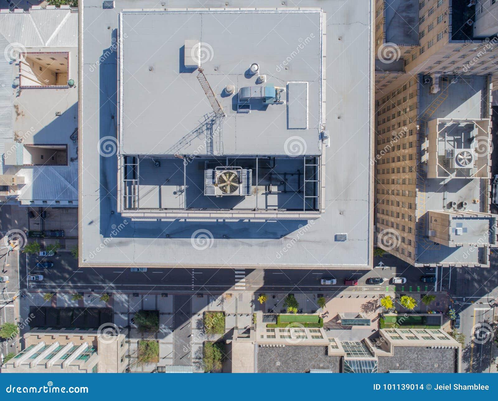 Lucht het Oogmening van de Hommelvogel ` s van Stad van Raleigh, NC