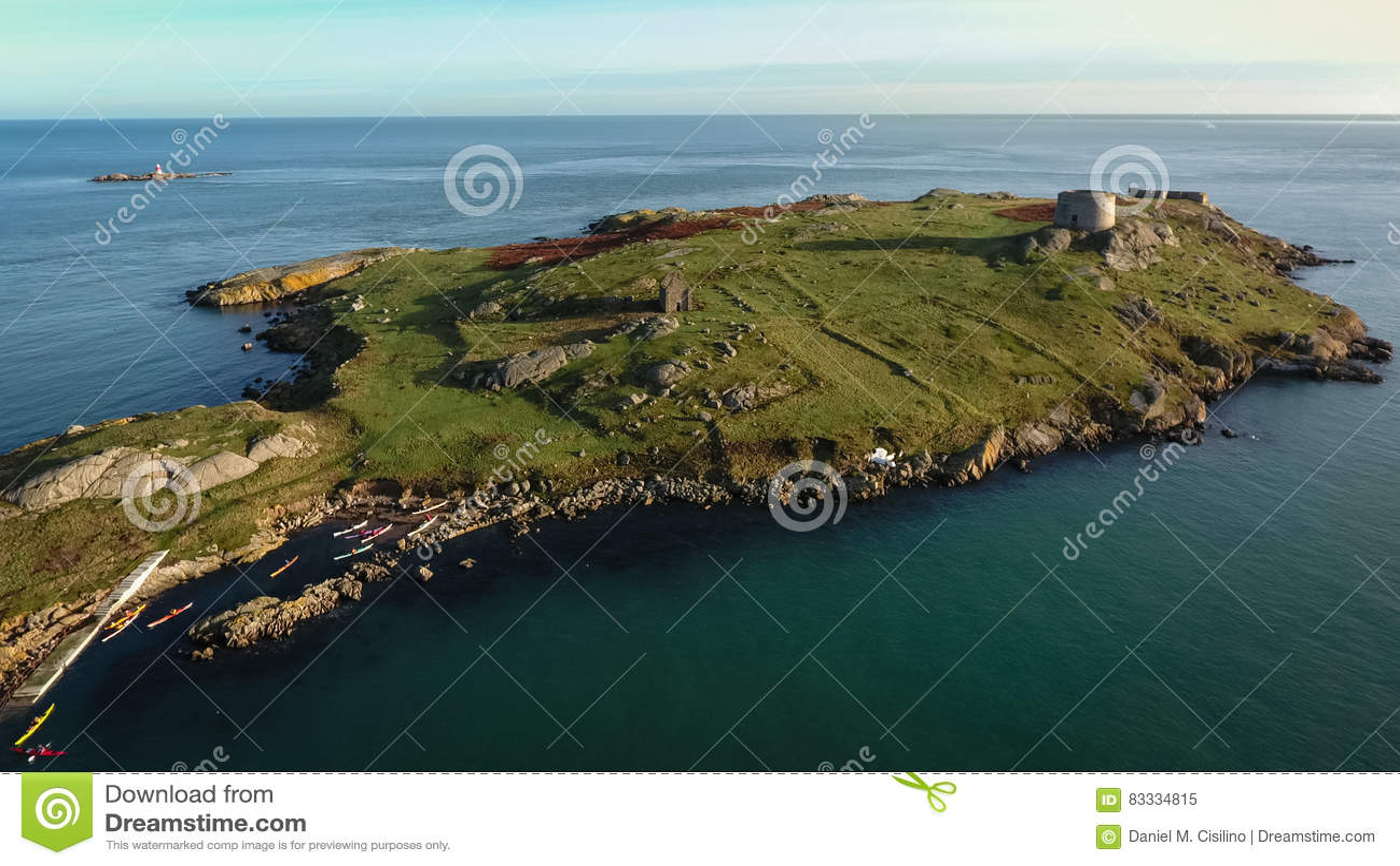 Lucht Mening ruïnes Dalkeyeiland dublin ierland