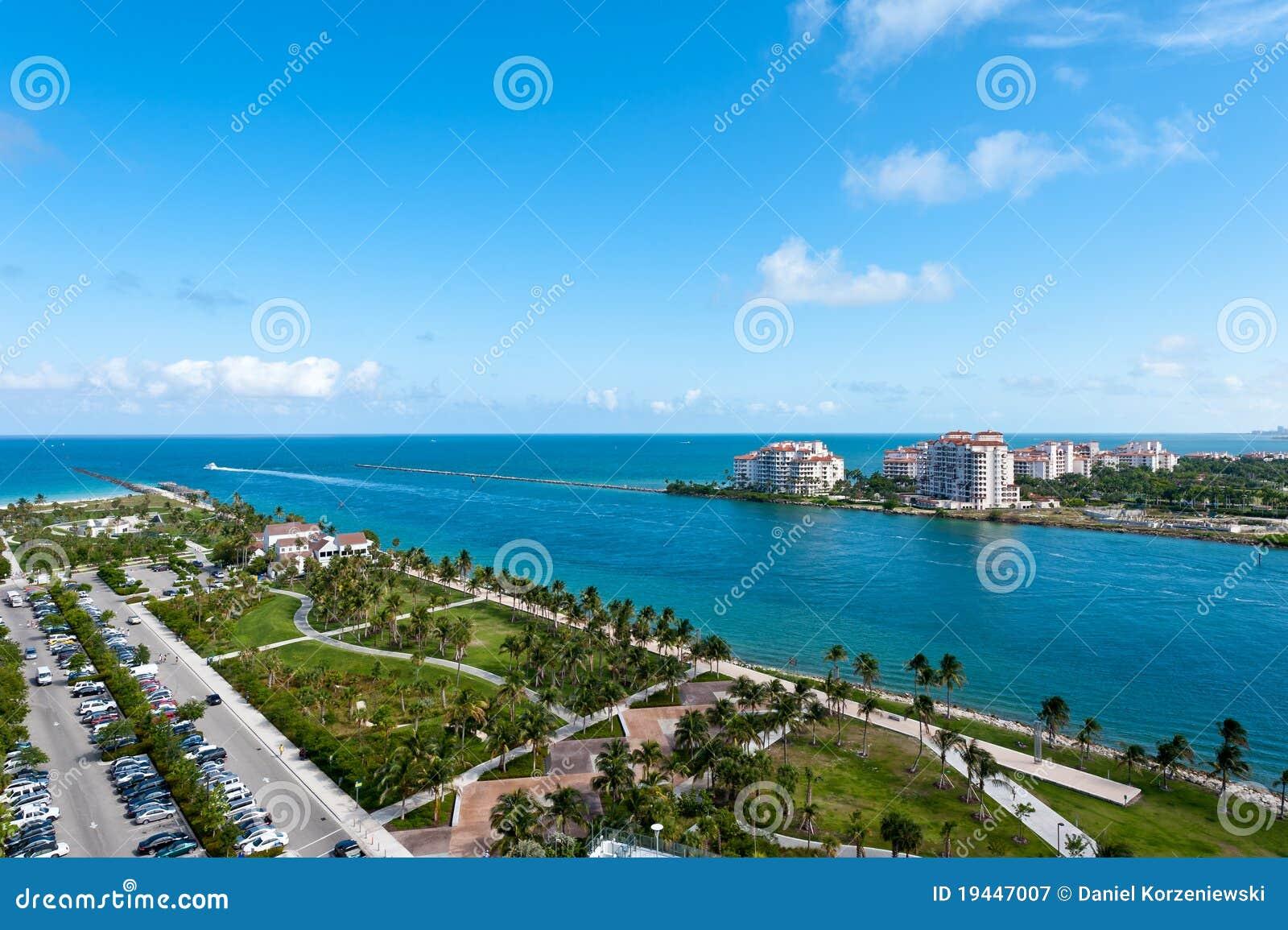 Lucht Mening van het Park van Pointe van het Zuiden van Miami