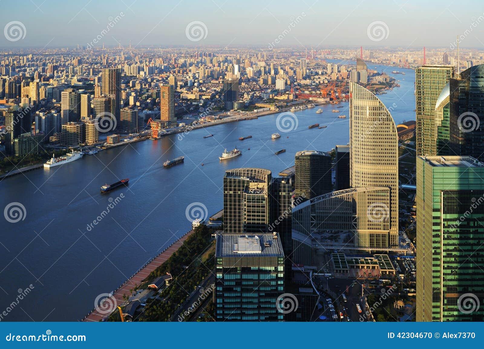 Lucht mening van Shanghai
