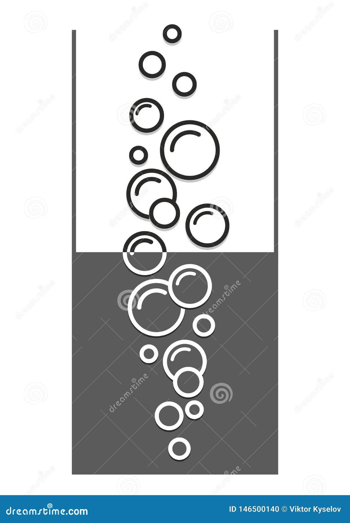 Luchtbellenpictogram