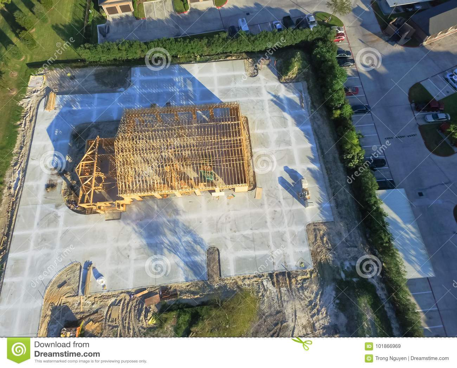 Luchtblokhuis commerciële bouwconstructie