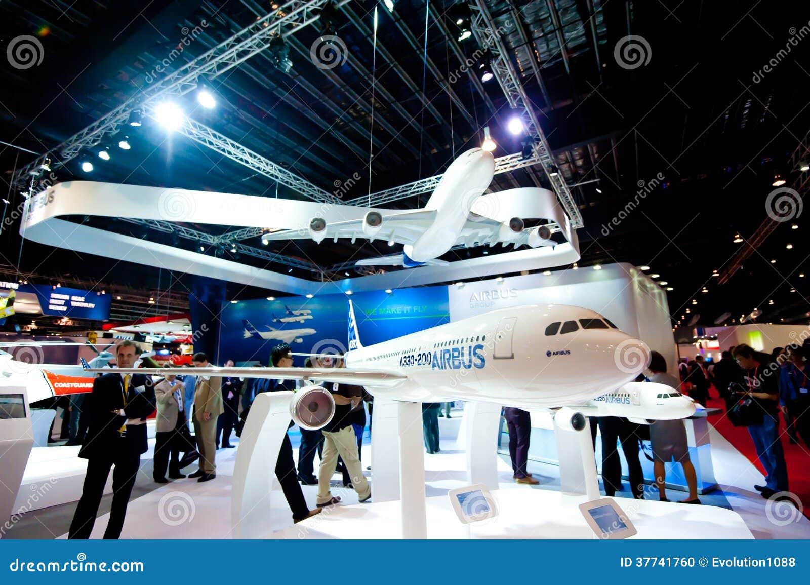 Luchtbus modelvliegtuigen in Singapore Airshow 2014