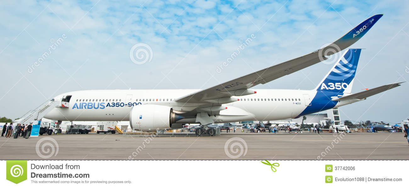 Luchtbus A350-900 in Singapore Airshow 2014