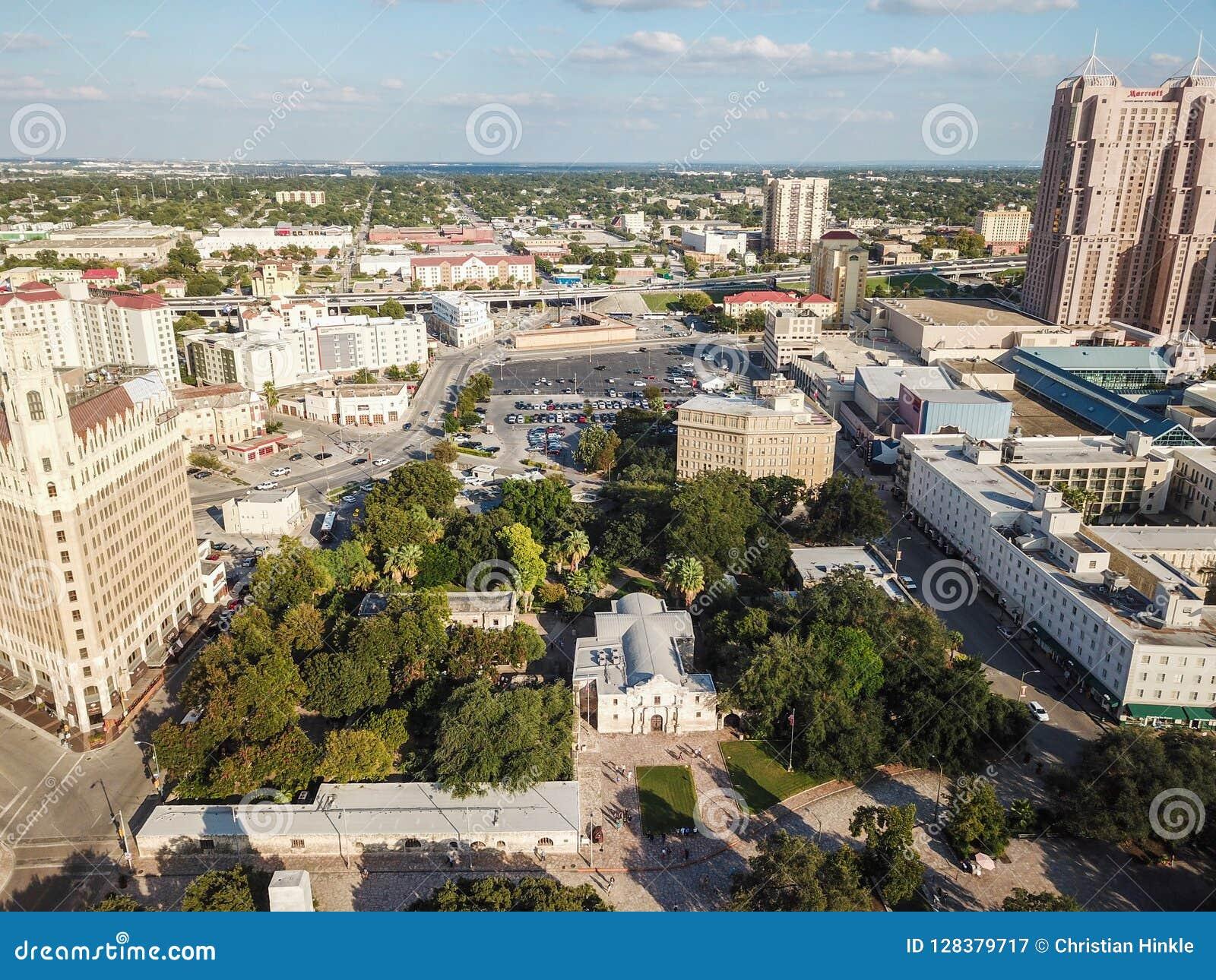 Luchtcityscape van San Antonio Van de binnenstad, Texas Facing Towards E
