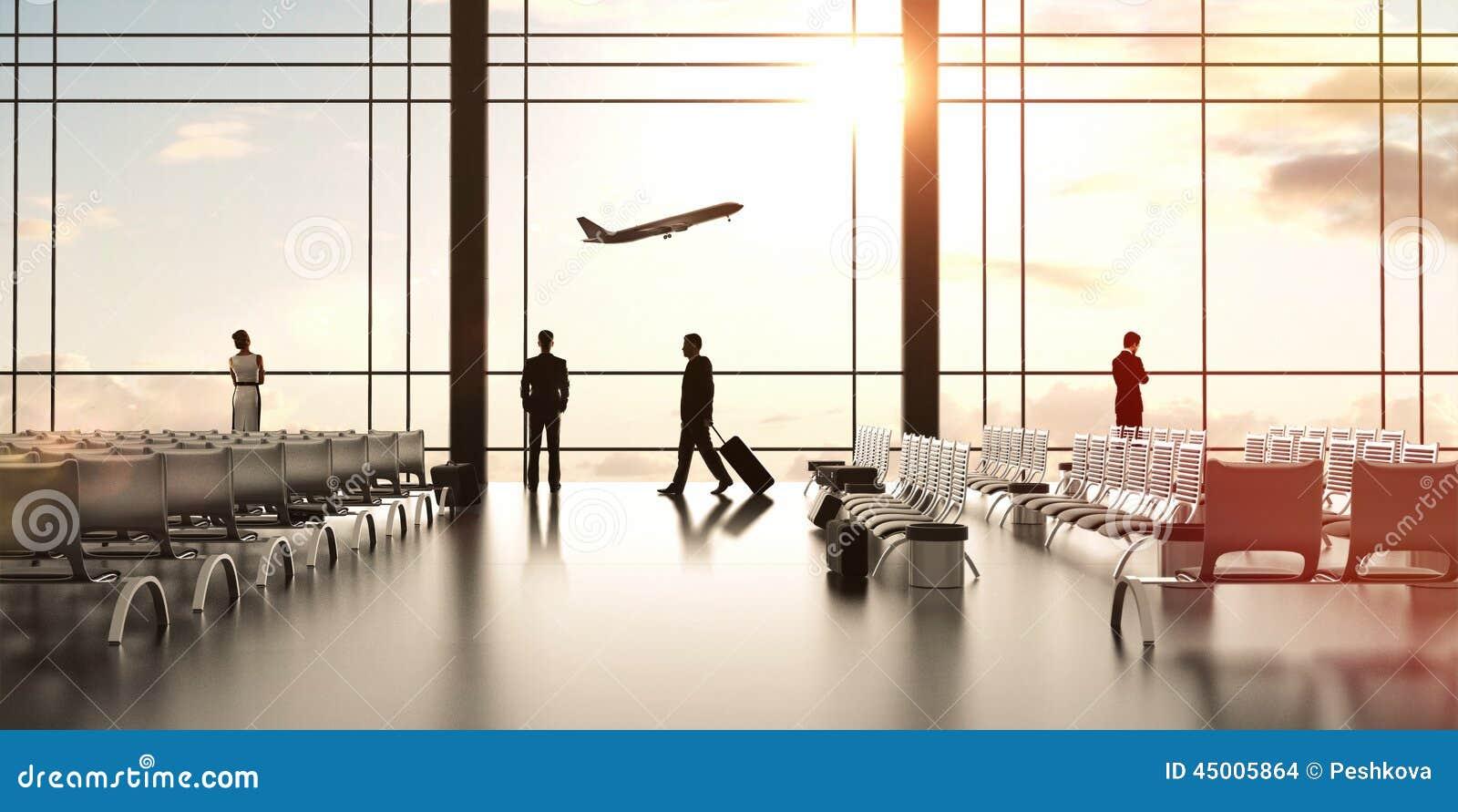 Luchthaven met mensen