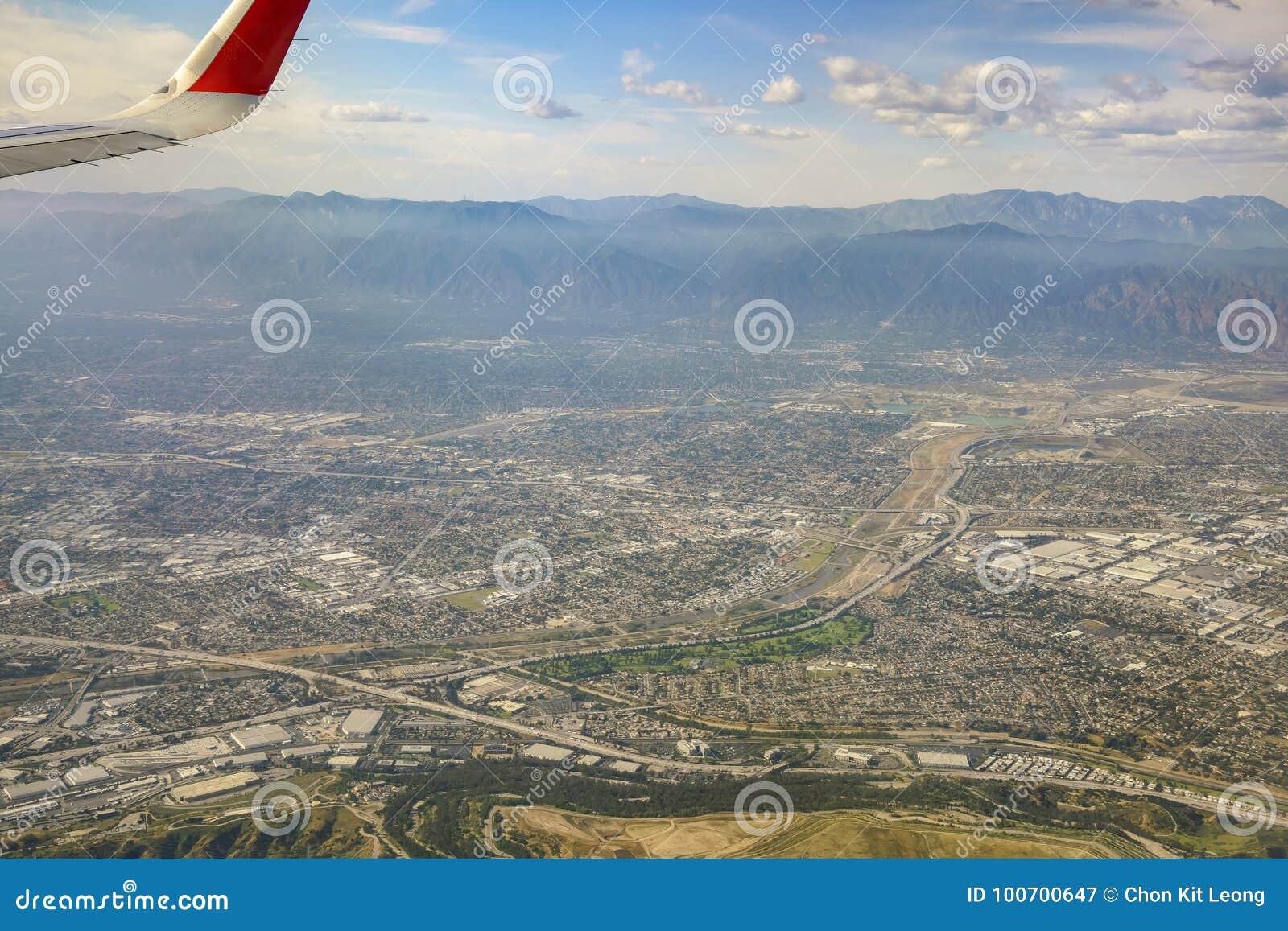 Luchtmening van Arcadia, Gr Monte, Basset, mening van vensterzetel