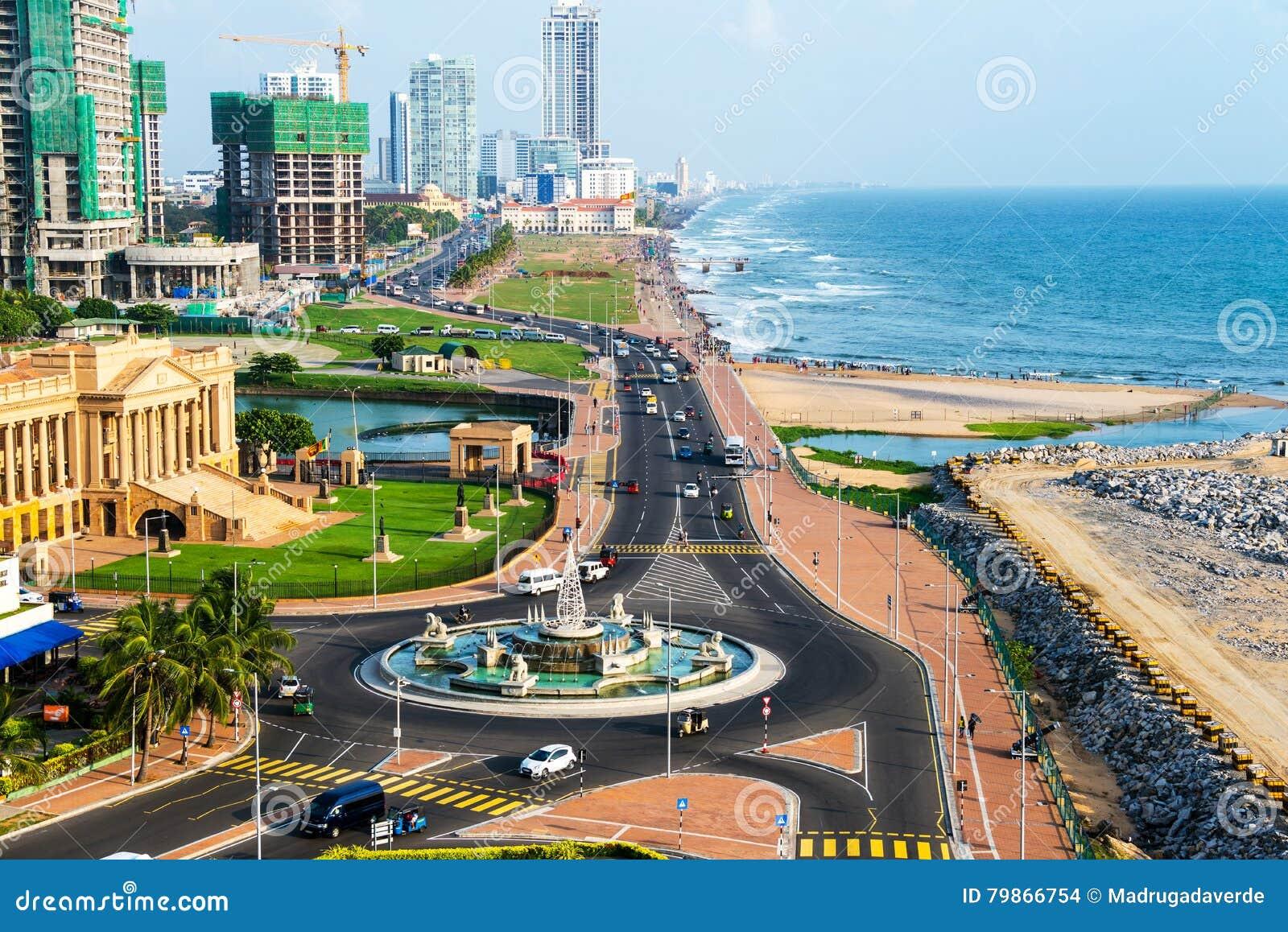 Luchtmening van Colombo, de moderne gebouwen van Sri Lanka