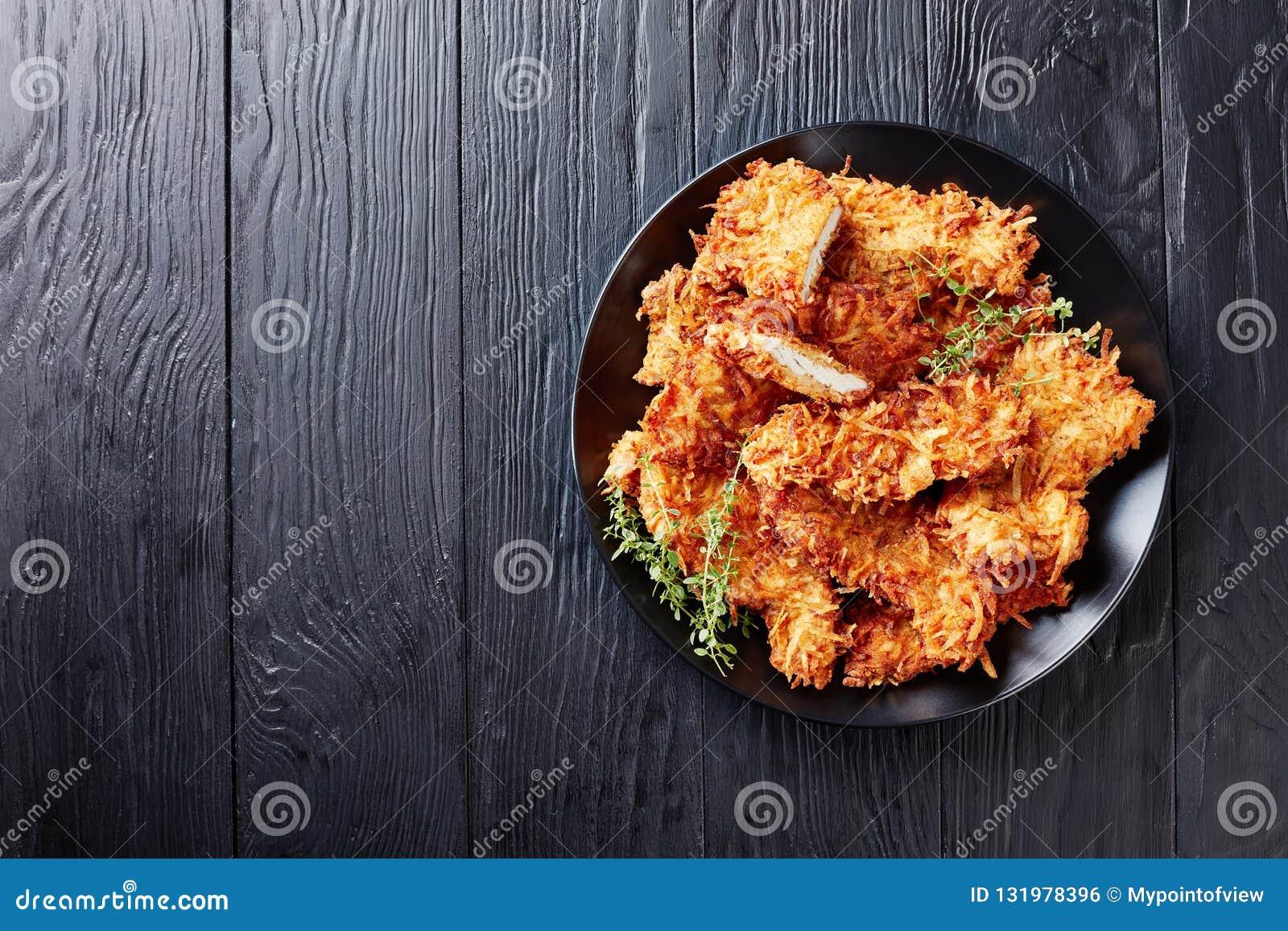 Luchtmening van de gebraden karbonades van de kippenborst