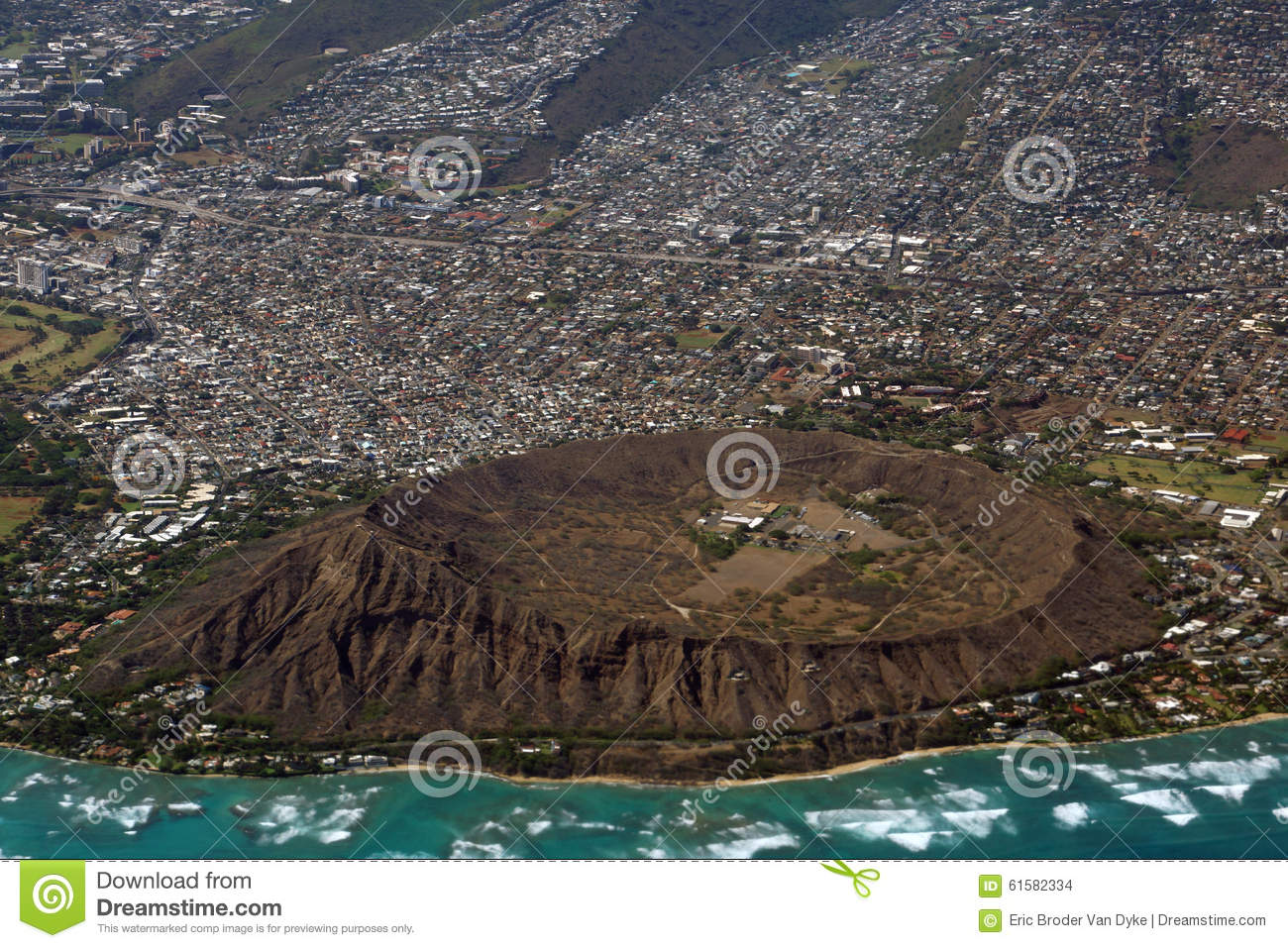 Diamondhead (MS) United States  City pictures : Luchtmening Van Diamondhead, Kapahulu, Kahala, Vreedzame Oceaan Stock ...