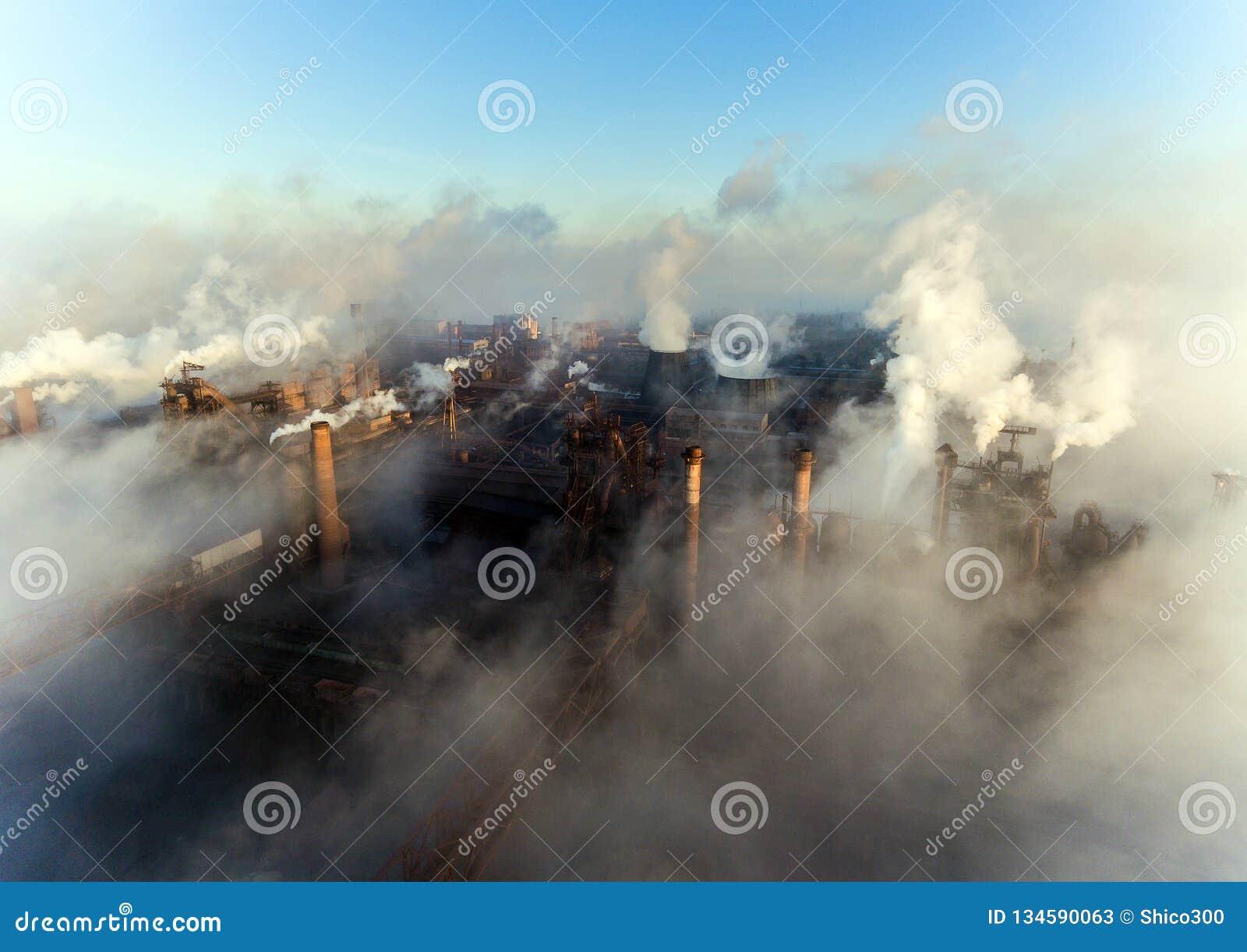 Luchtmening van elektrische centrale