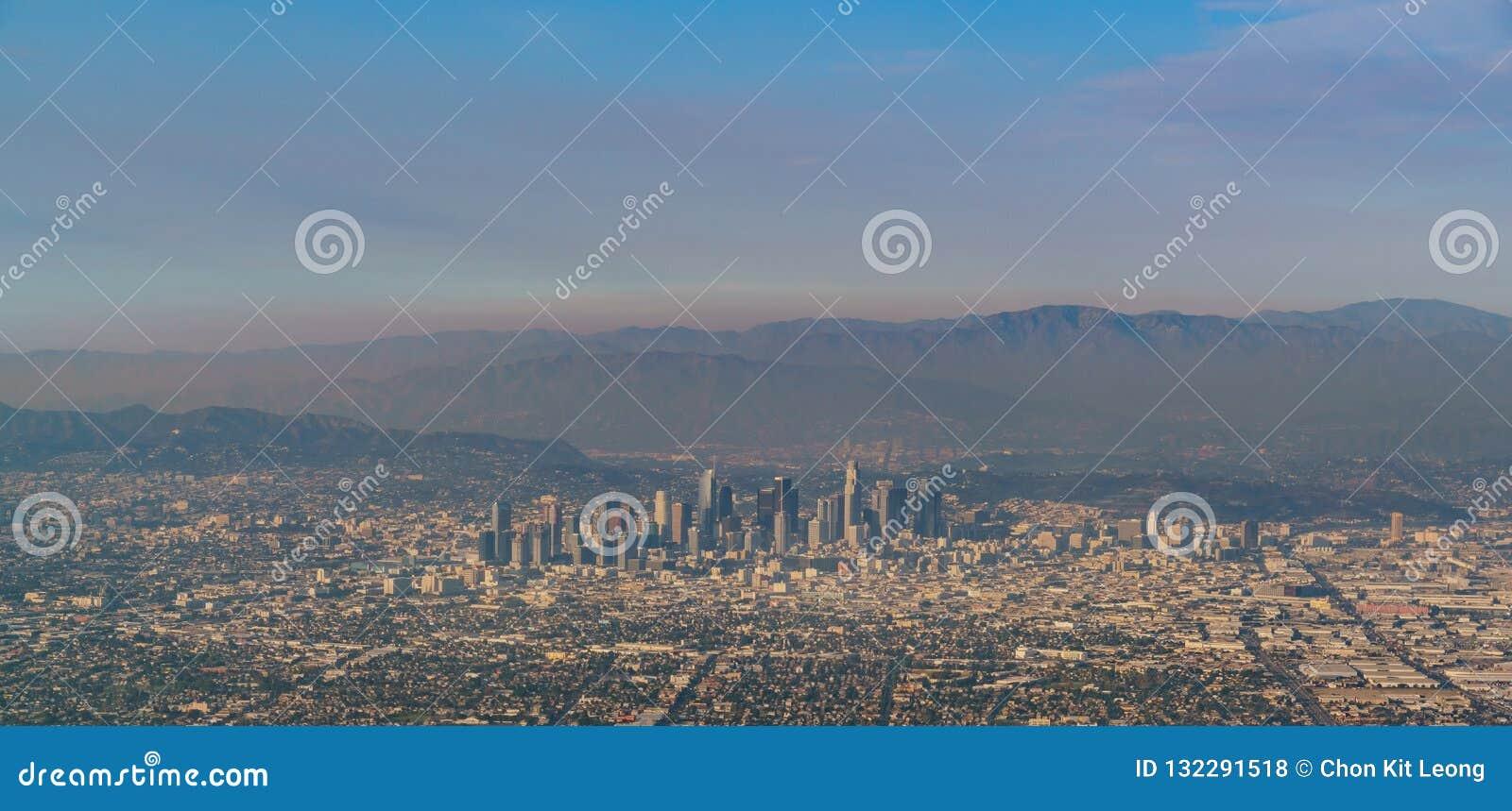 Luchtmening van het grote gebied van Los Angeles