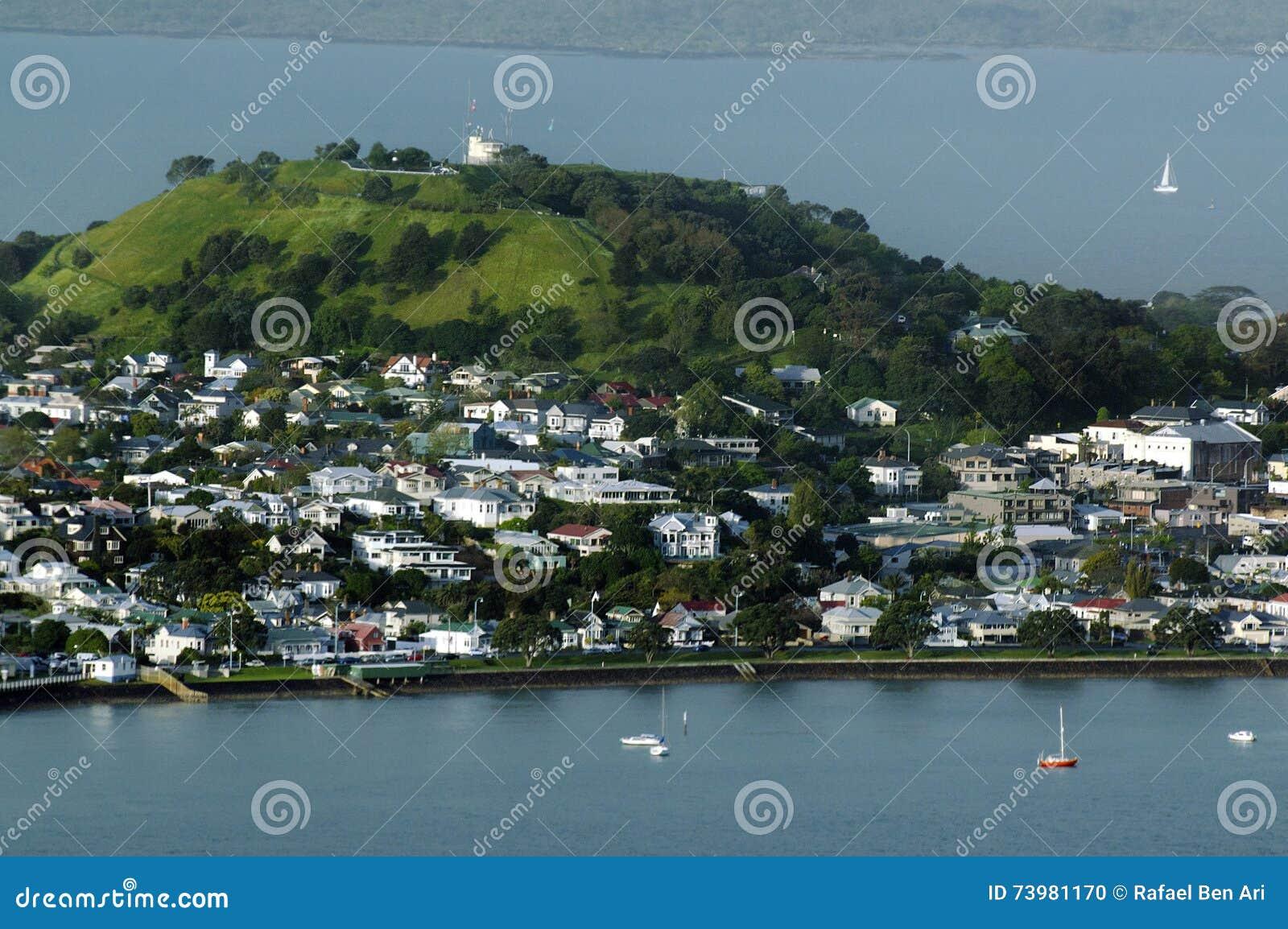 Luchtmening Van Onderstel Victoria Devonport Auckland New Zealand