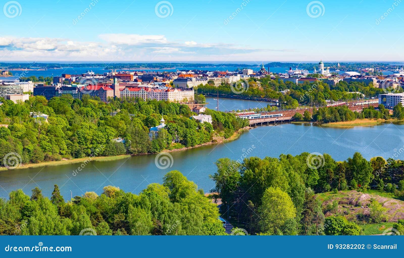 Luchtpanorama van Helsinki, Finland