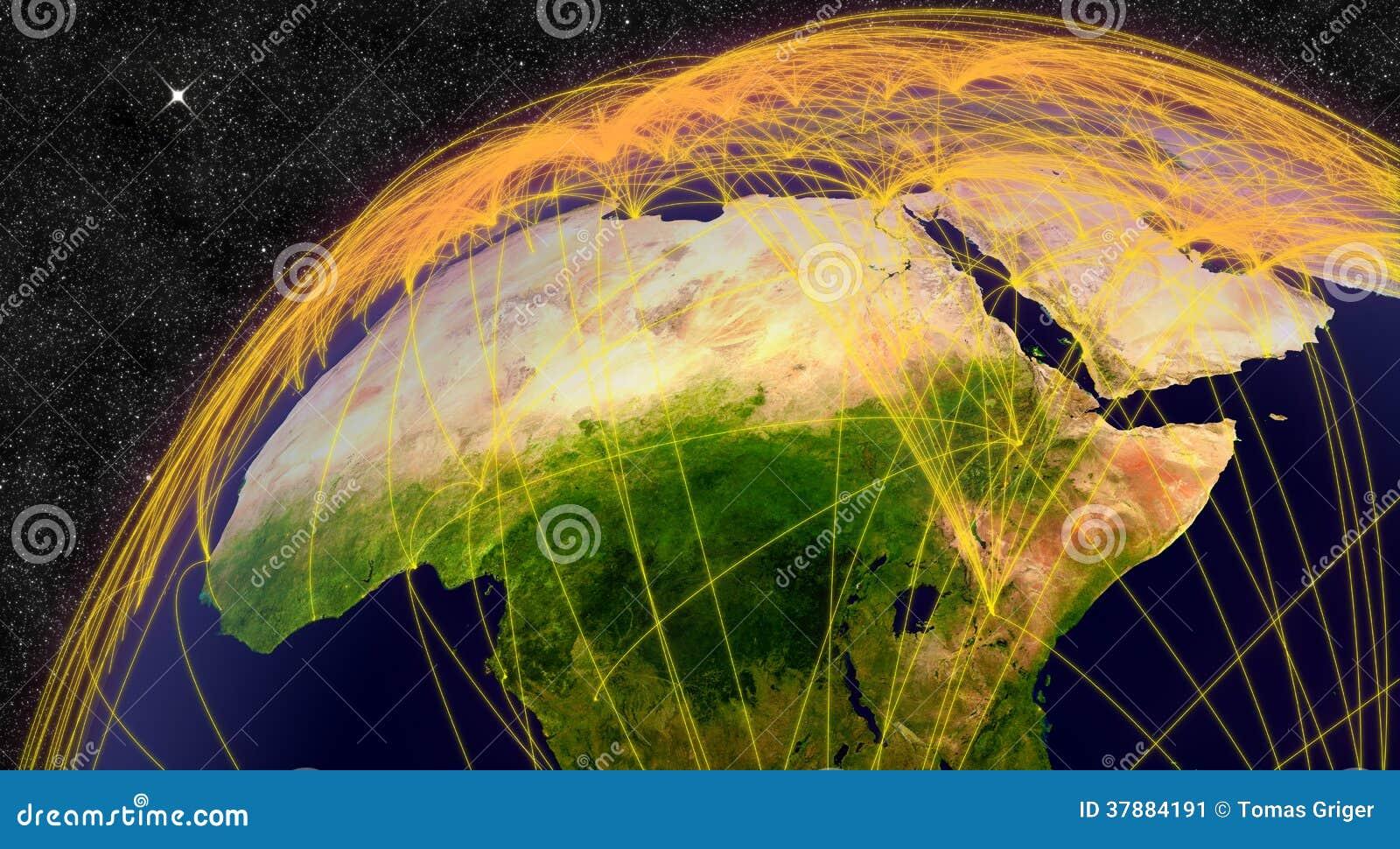 Luchtreis in Noord-Afrika