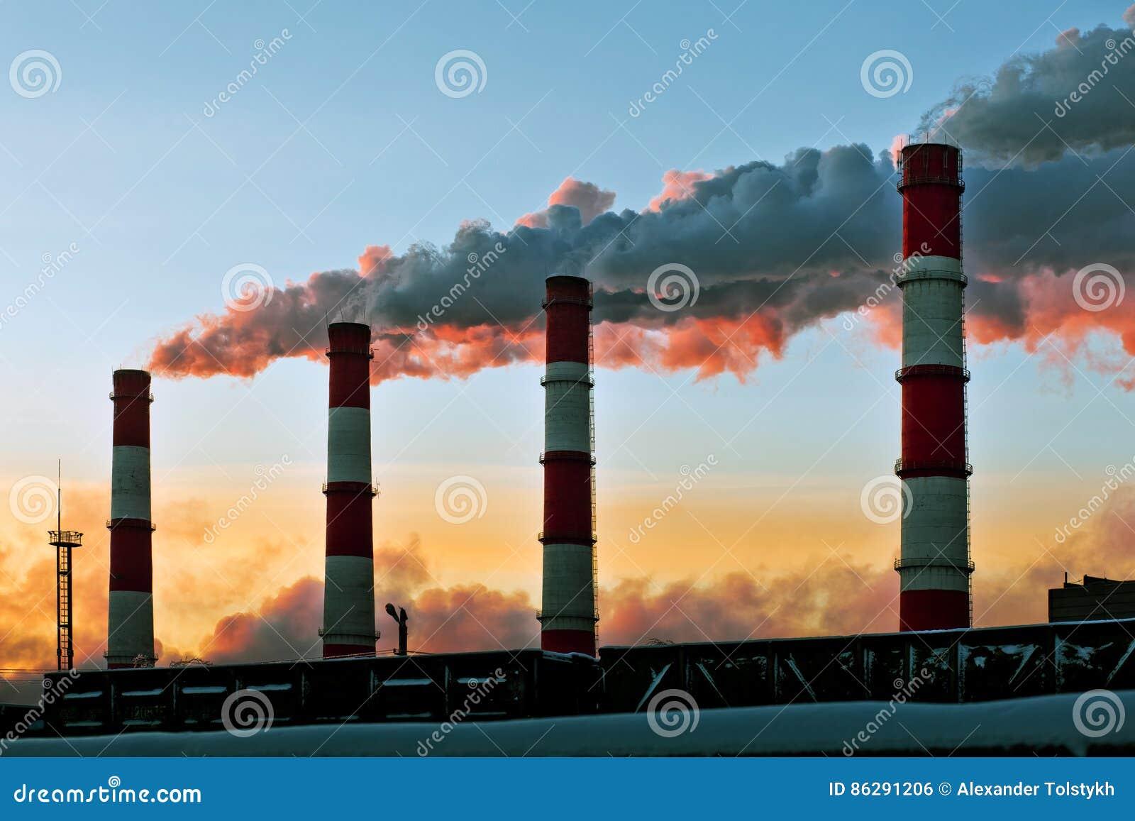 Luchtvervuilingsfabriek