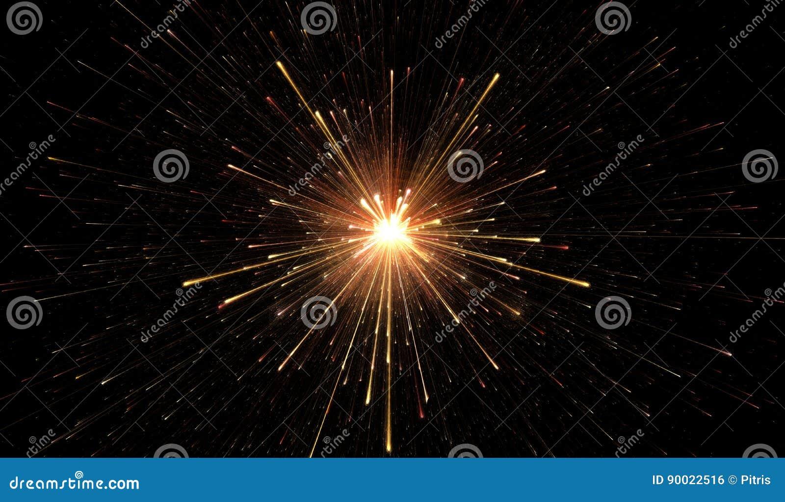 Luci d ardore, esplosione della particella